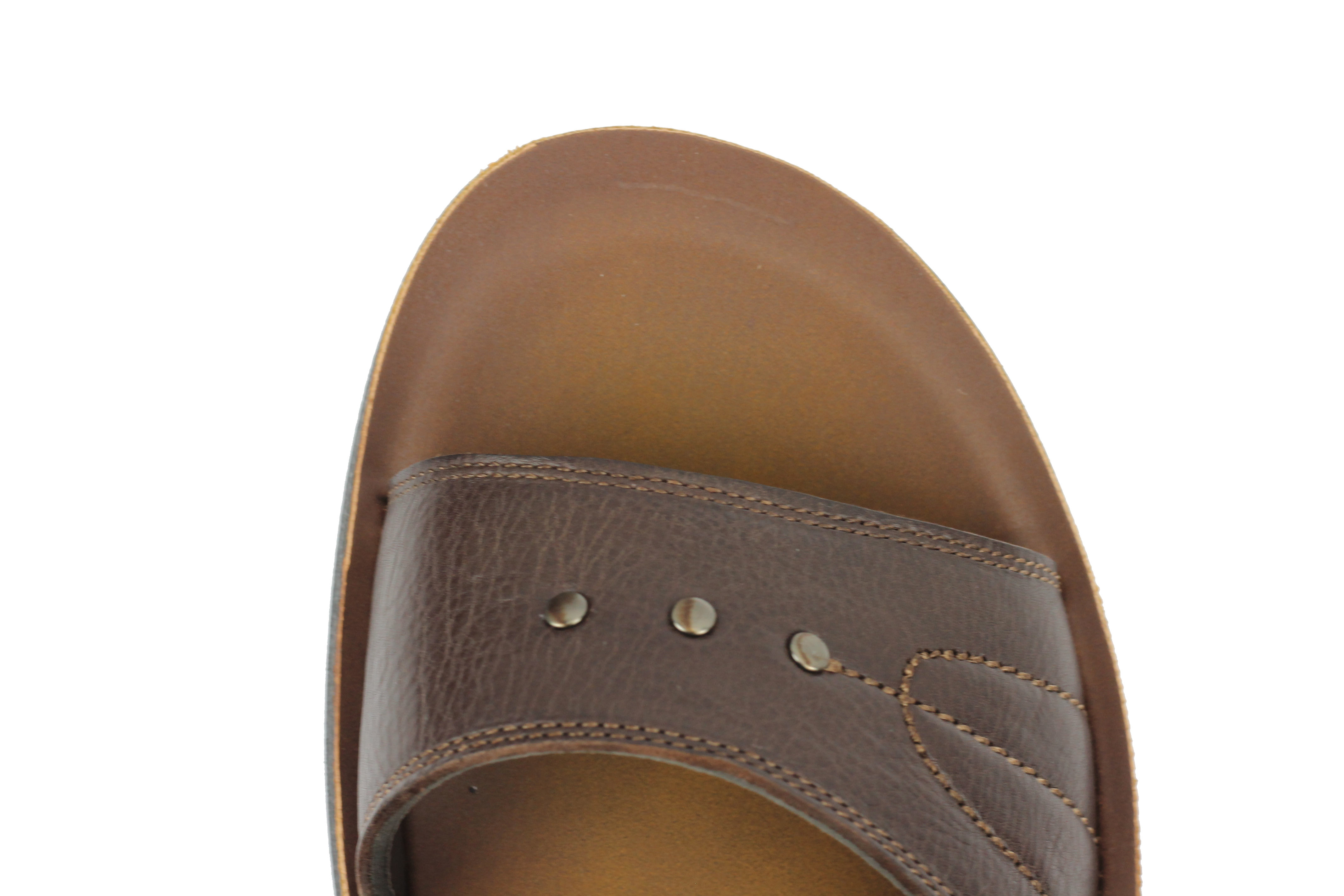 New Mens Big Size Leather Sandals Open Toe Adjustable Strap Slippers Black Brown