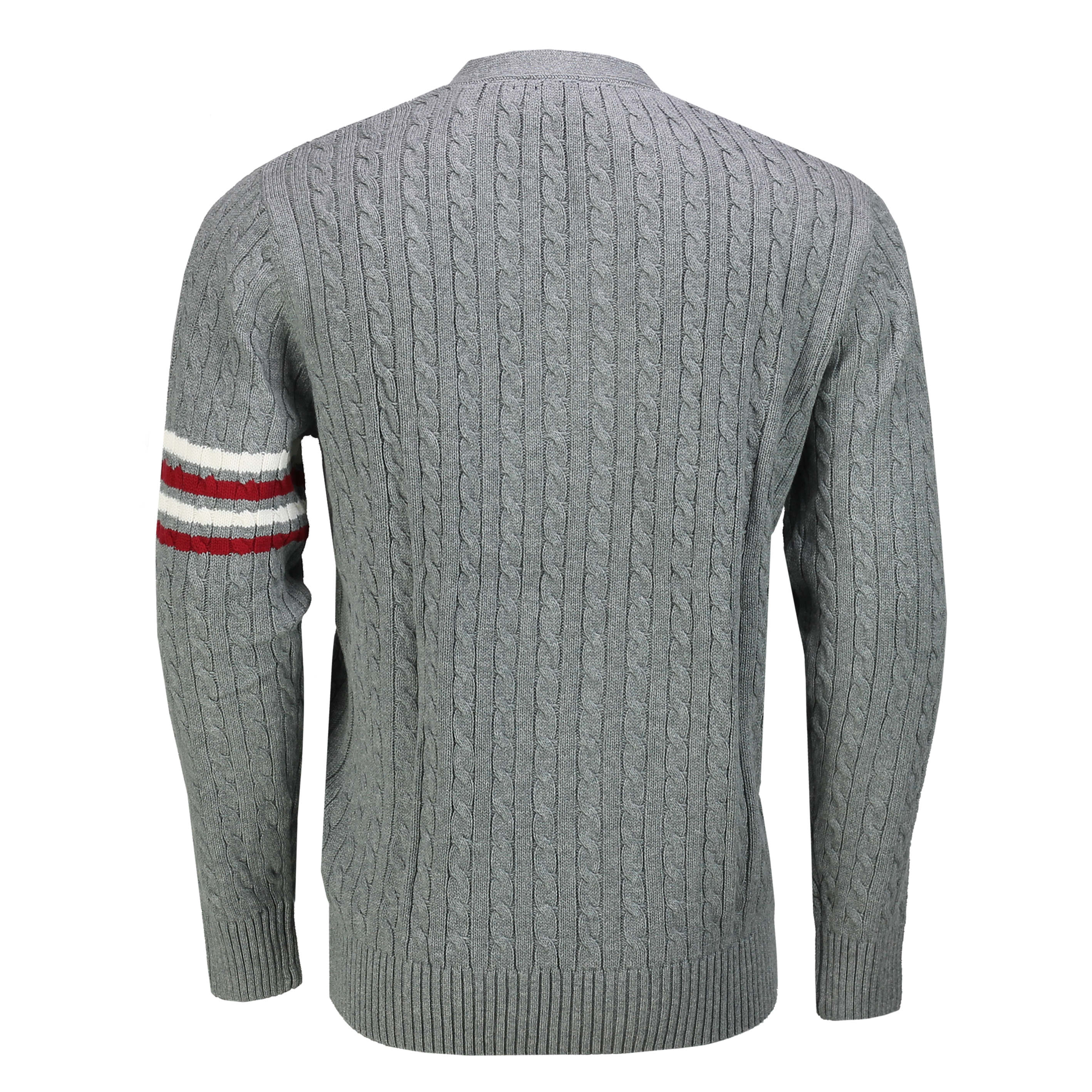 Mens Cardigan with Buttons Pockets Classic Chunky Cable Knit Jumper Sweater Top