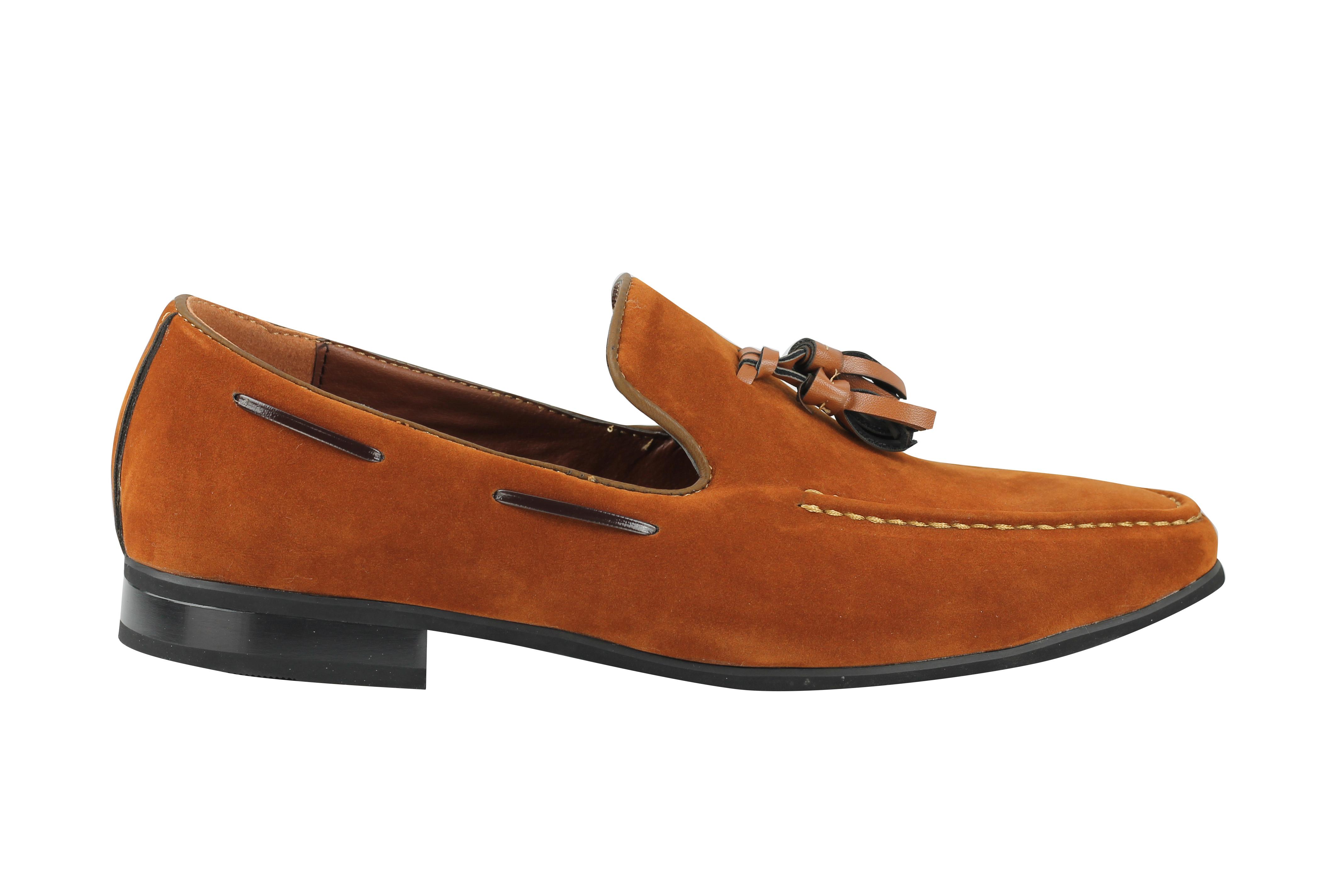 Nouveau homme en daim synthétique cuir à gland mocassins smart conduite à enfiler chaussures taille 6 12