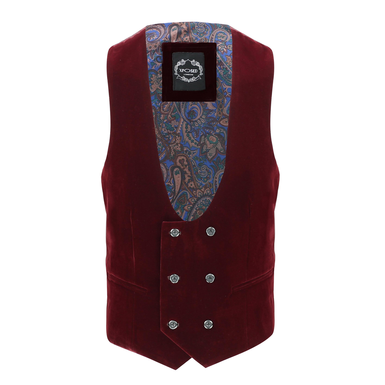 Mens Maroon Velvet Tux Dinner Jacket Vintage 3 Piece Suit Item Sold Separately