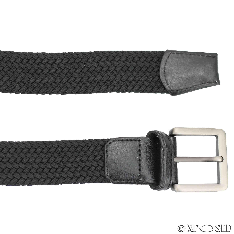 NUOVO Unisex Uomo Donna Ragazzo Smart Casual In Tessuto Intrecciato Cintura Elastico Stretch Taglia 1