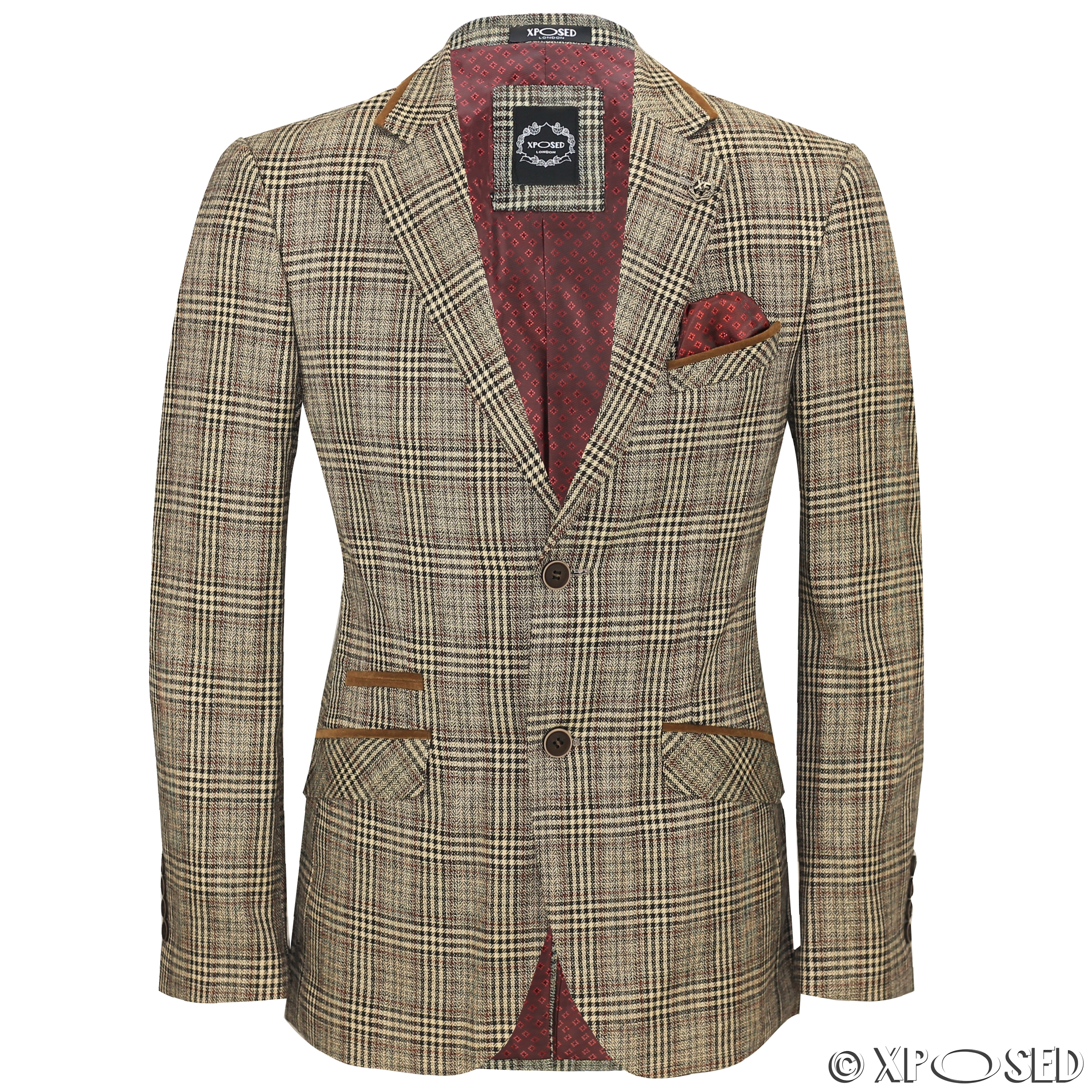 An elbow patches sport coat is a popular apparel choice with jeans at a homecoming football game or for job interviews. Shirts, sweaters and accessories that match the color of the elbow patch can accentuate it, or alternatively, elbow patches can unobtrusively blend into the look of the jacket.