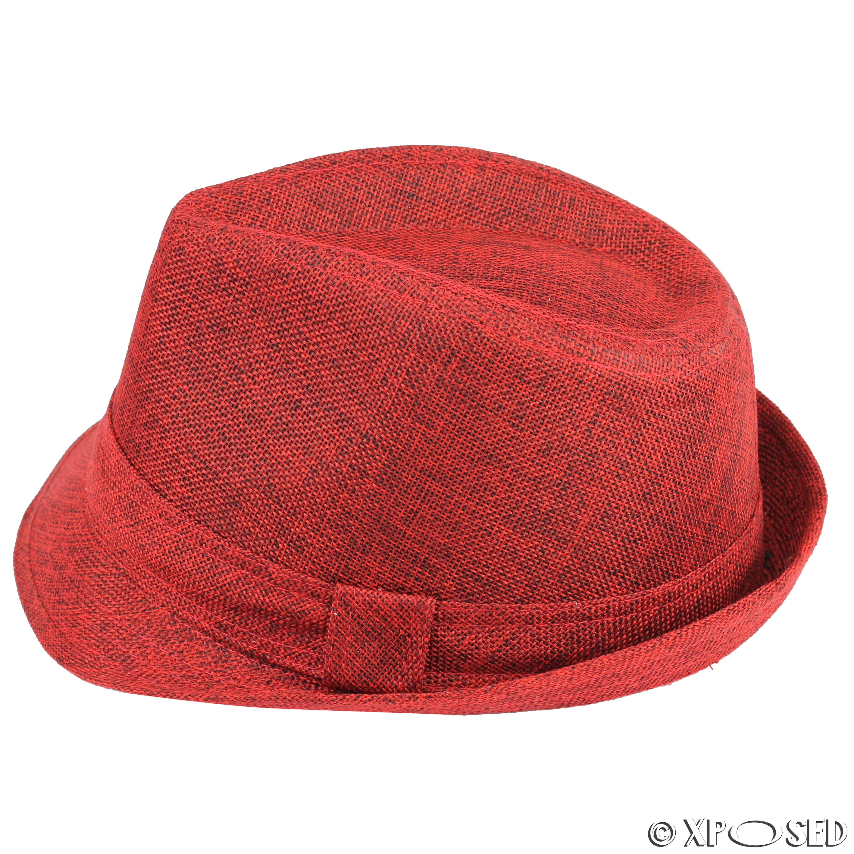 unisex mens womens vintage trilby fedora straw sun hat