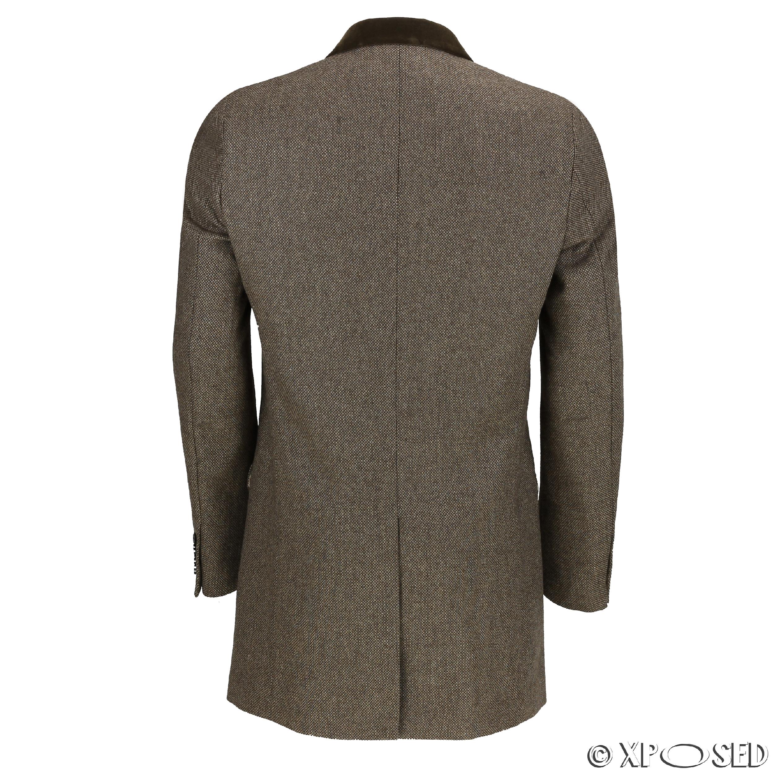 Mens herringbone overcoat