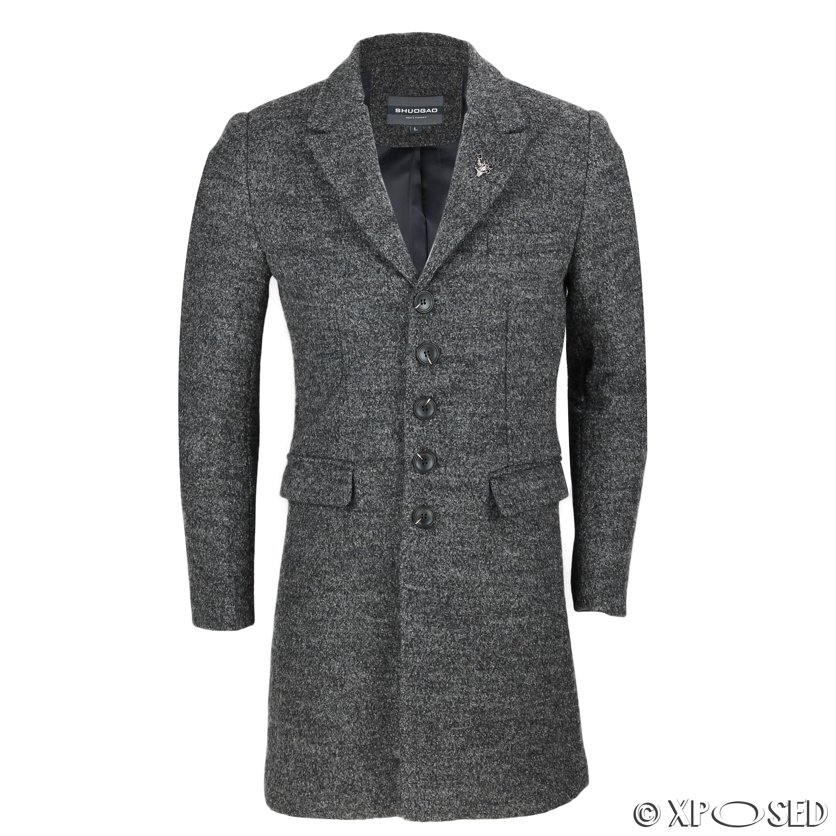 Mens grey overcoat