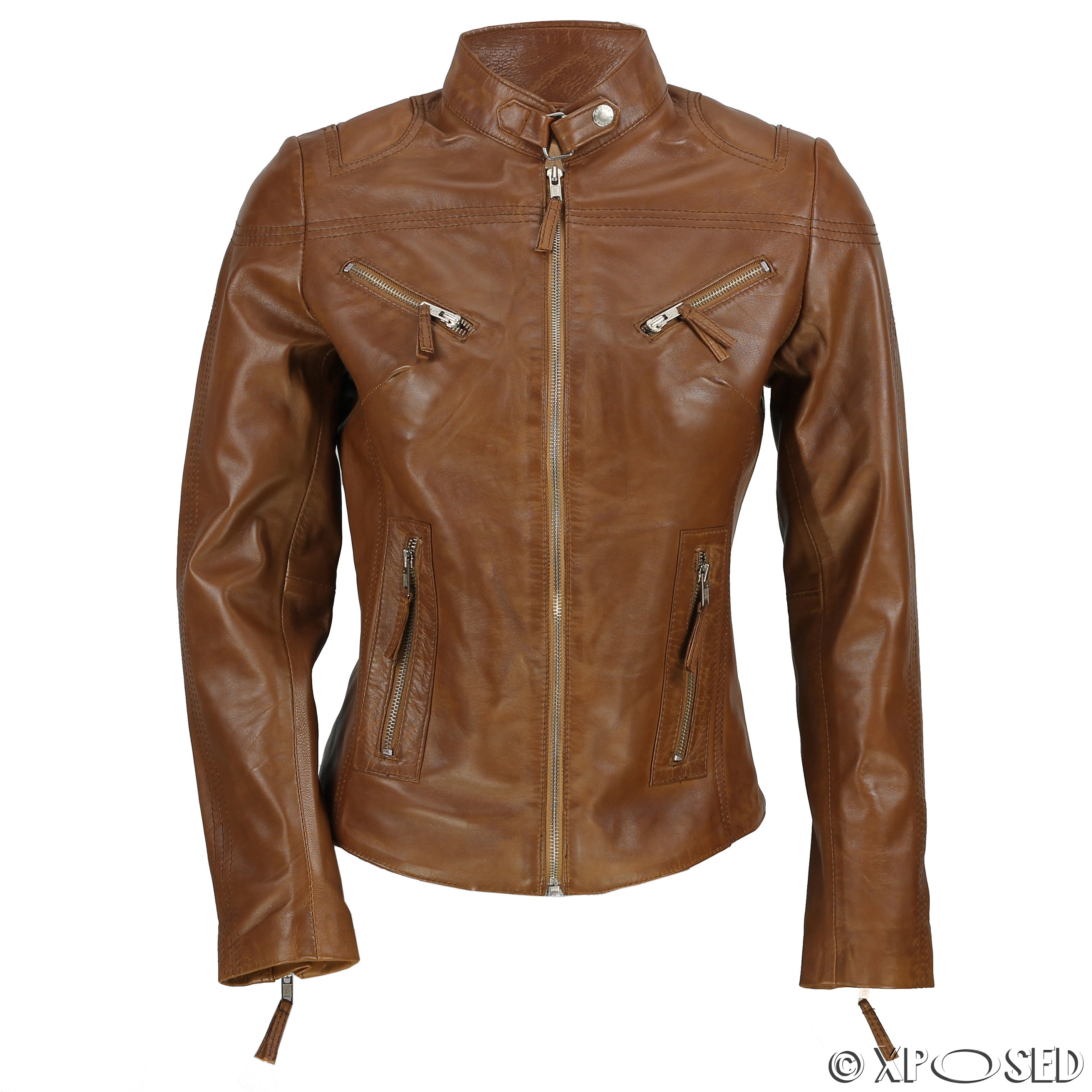Mens fitted leather jackets