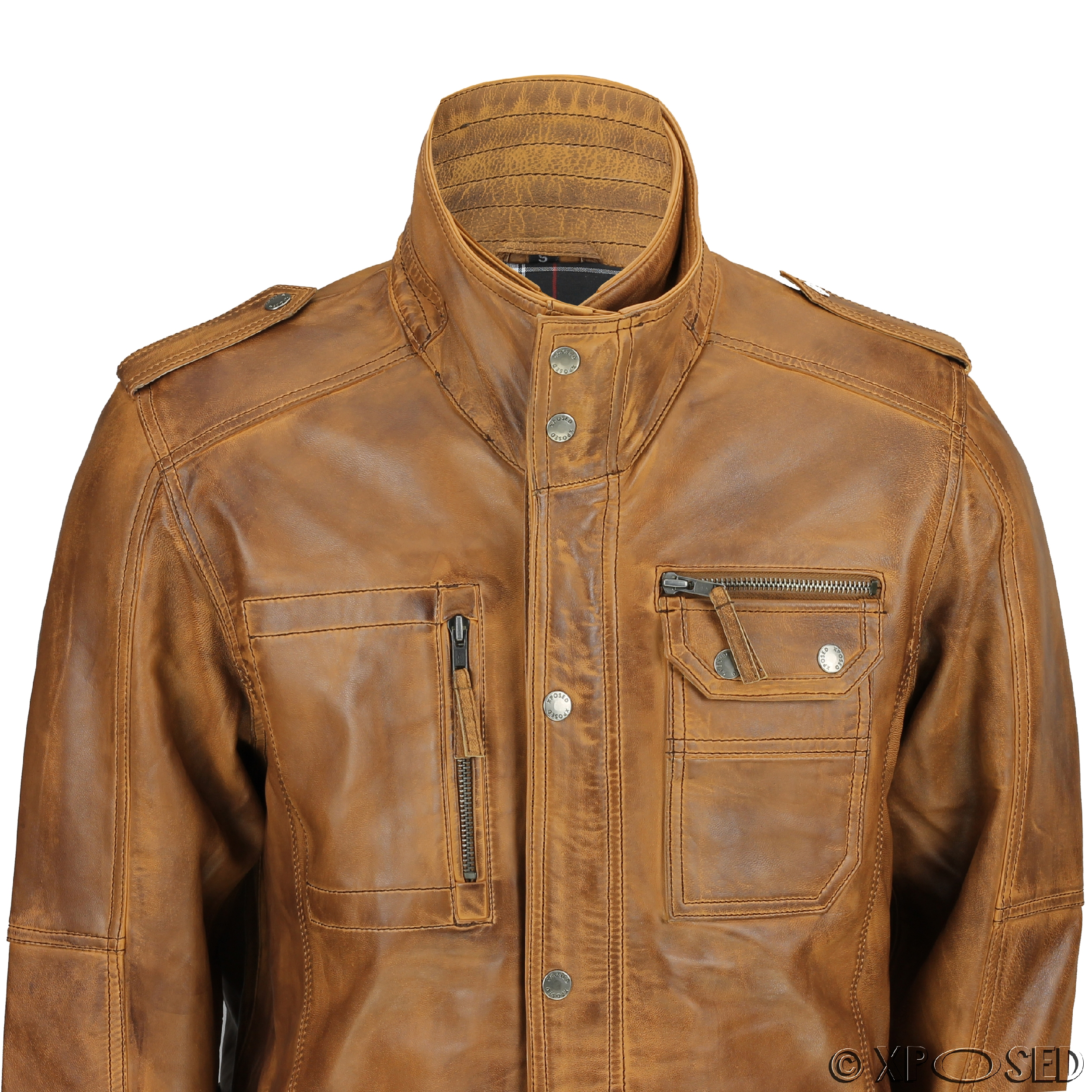 Leather field jackets