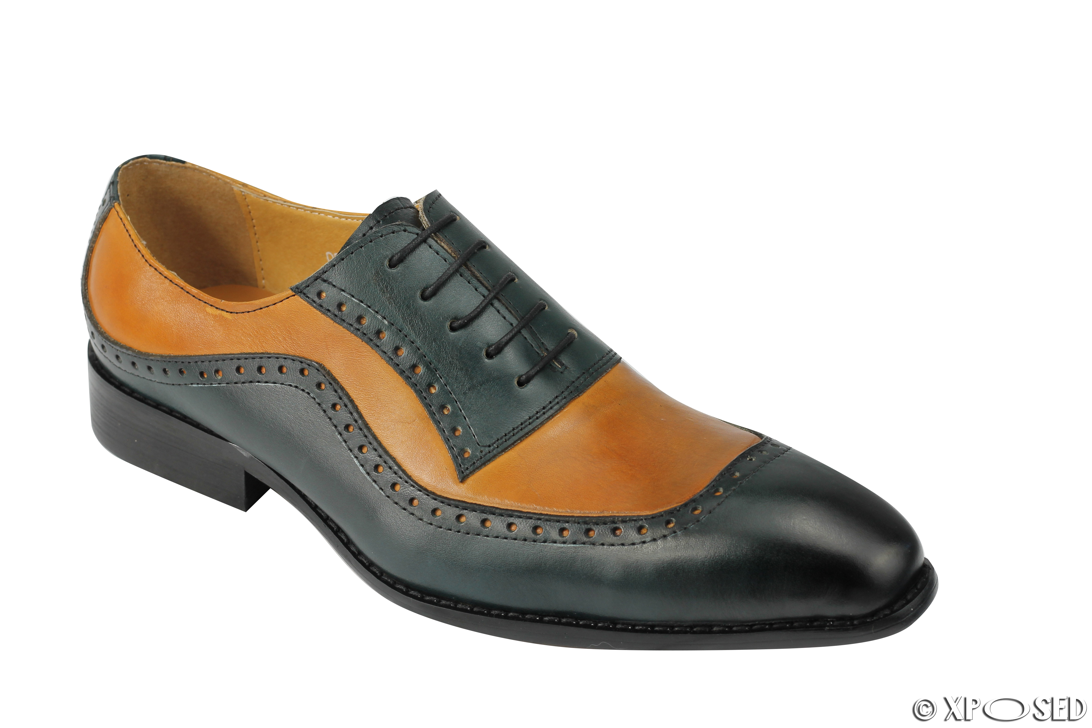 Lace Smooth Leather Mens Dress Shoes