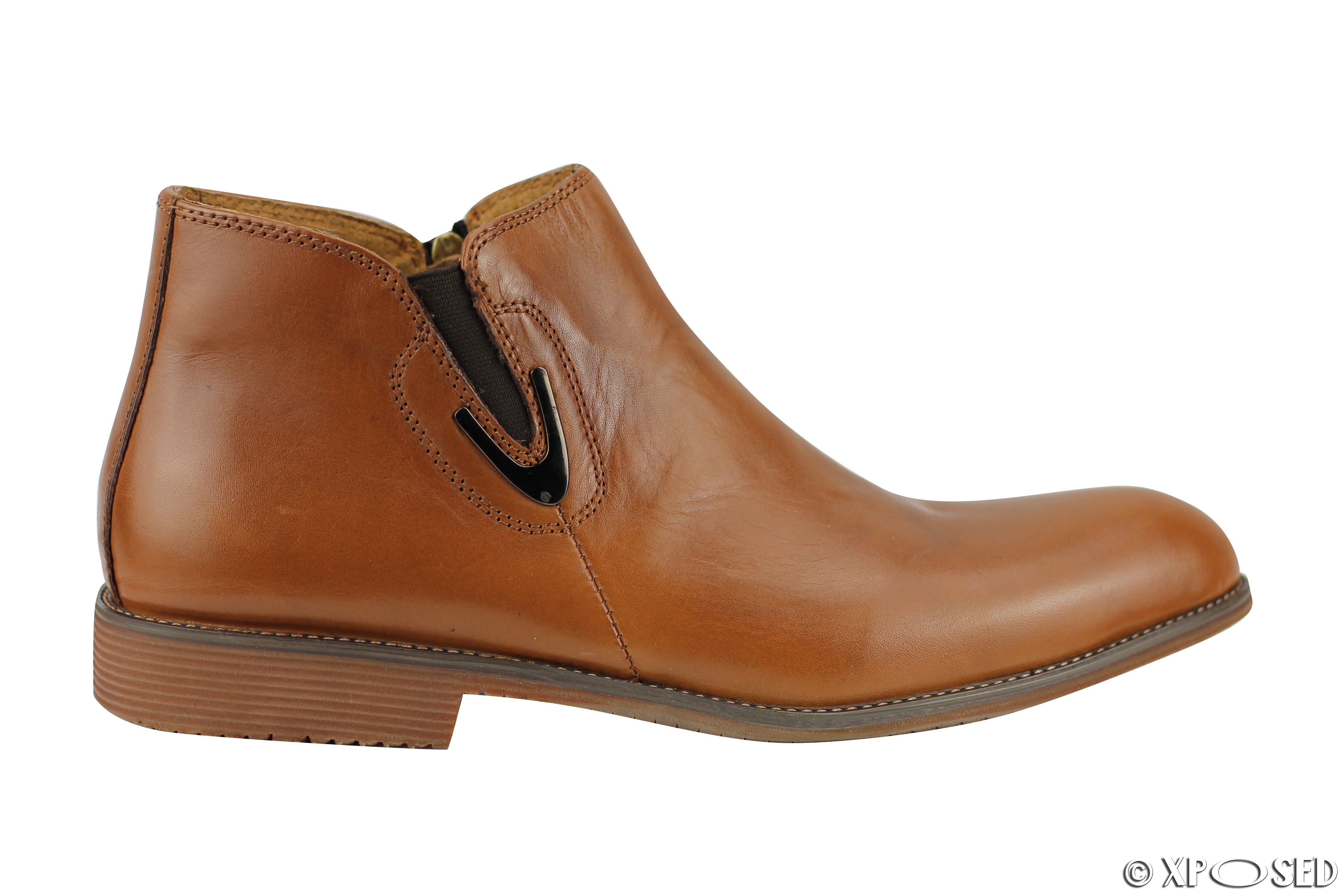 new mens real leather vintage chelsea boots classic zip