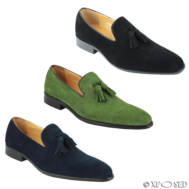 Green Velvet Mens Shoes