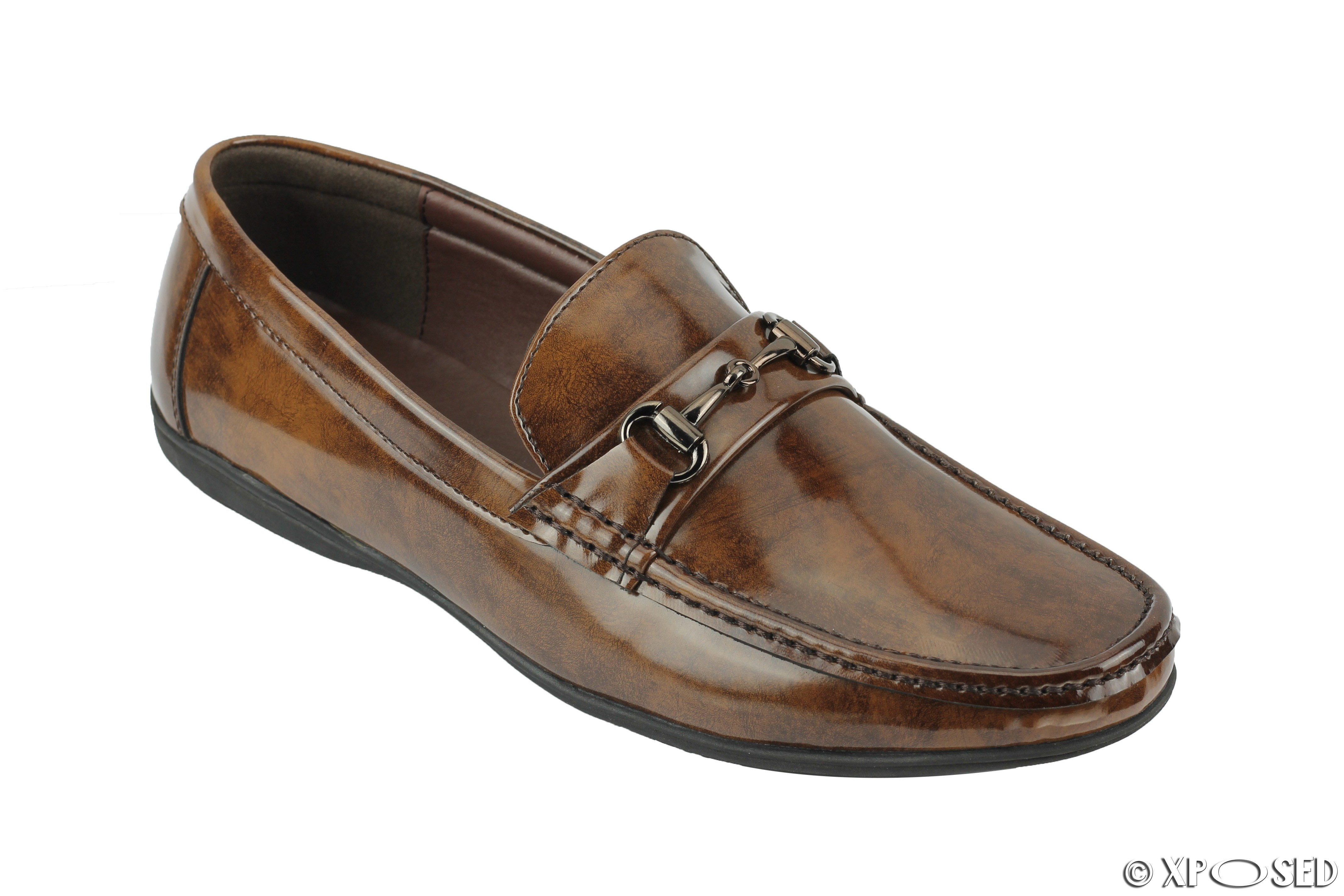 Shiny Loafer Shoes Mens