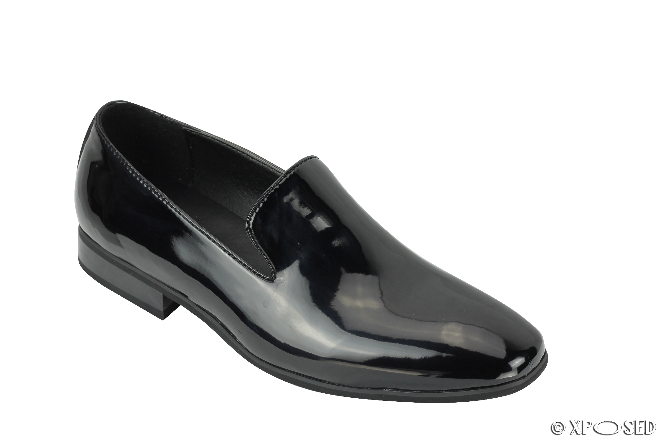 new mens loafers patent leather smart casual slip on