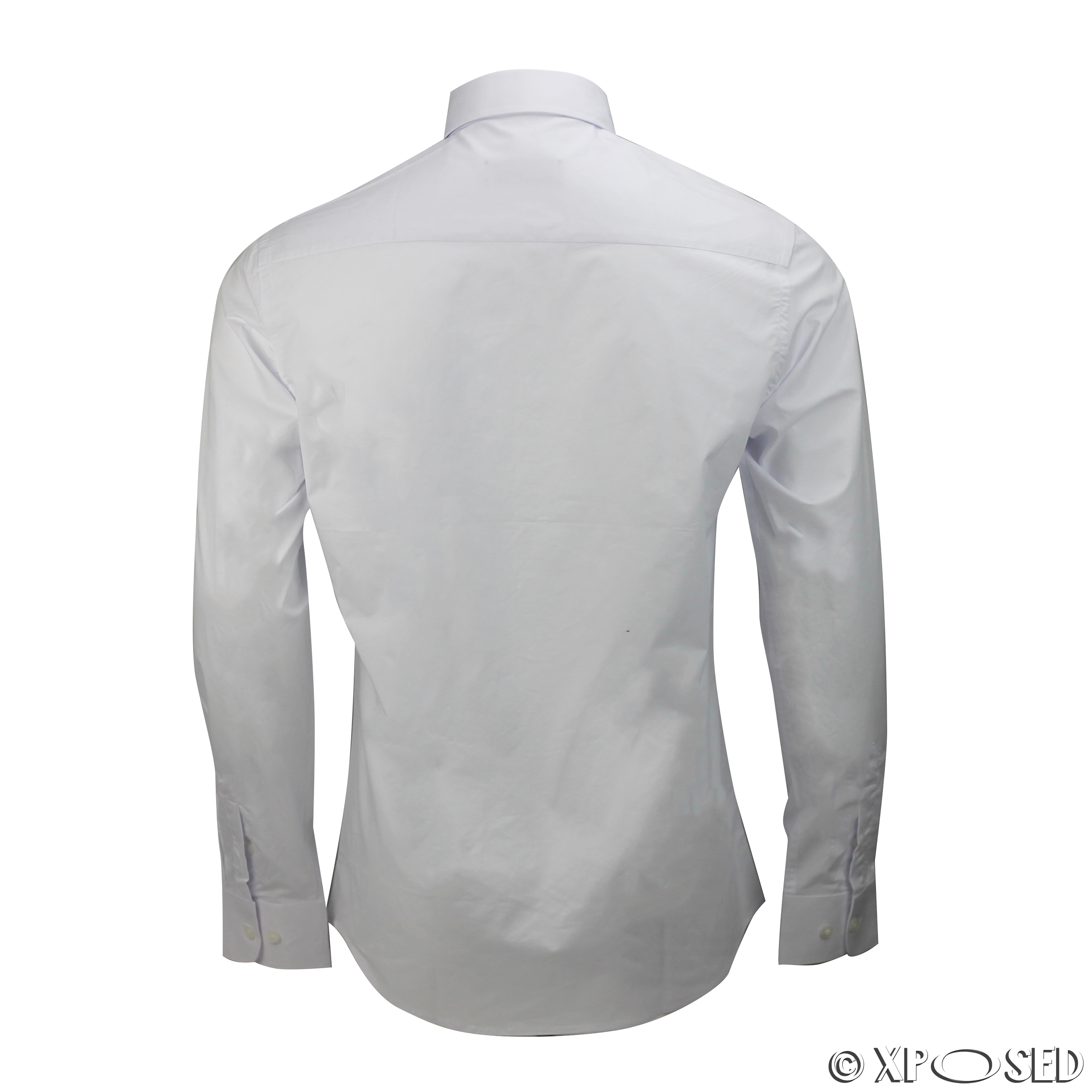 Black t shirt white collar - Mens Shirt Slim Fit White Black Pin Collar
