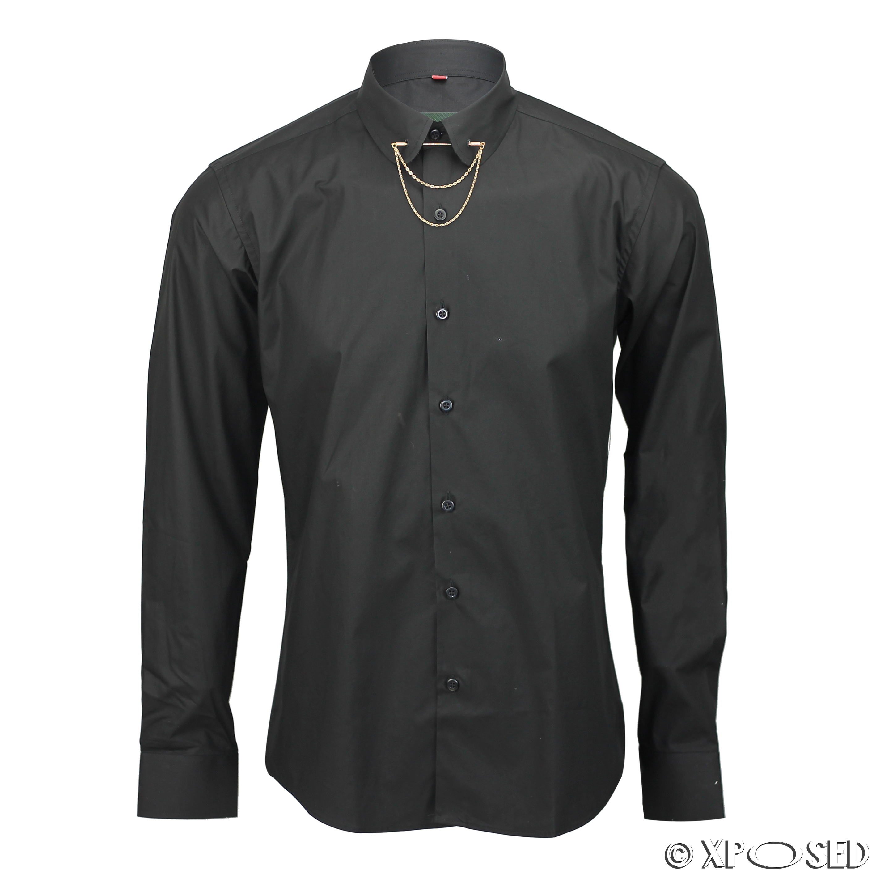 The banded collar dress shirt comes in a variety of styles like mens mandarin collar shirts and the round collar dress shirt. If you are looking for something that is a little different than the traditional men's dress shirts, consider collarless dress shirts.