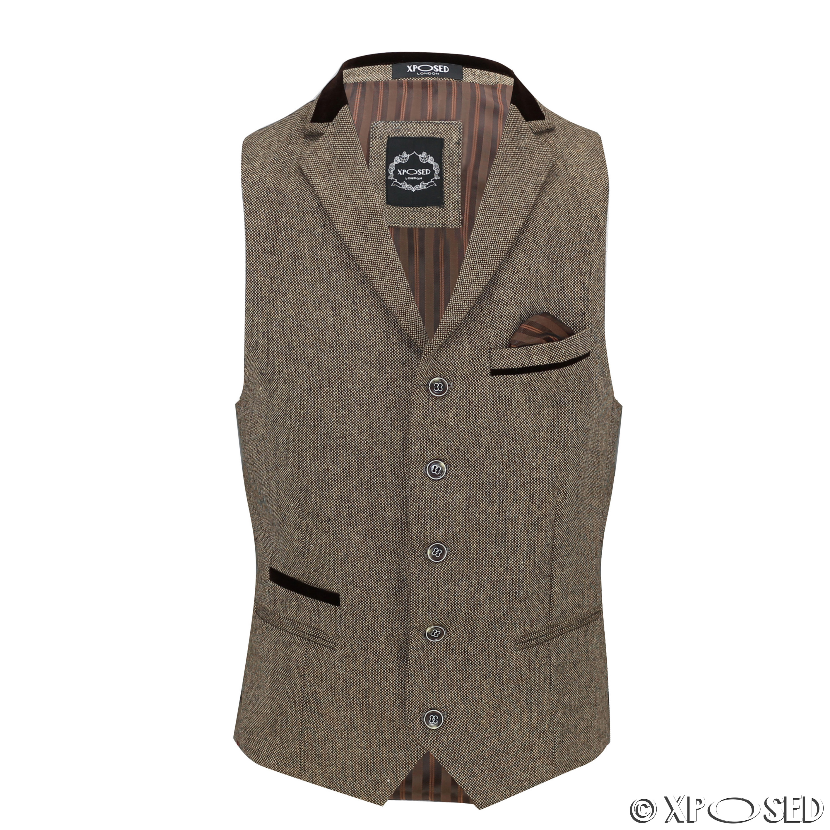 Browse our collection of premium quality Tweed Waistcoats. Quintessential British styling at it's best, you'll look every inch the British Gentleman at an affordable price.
