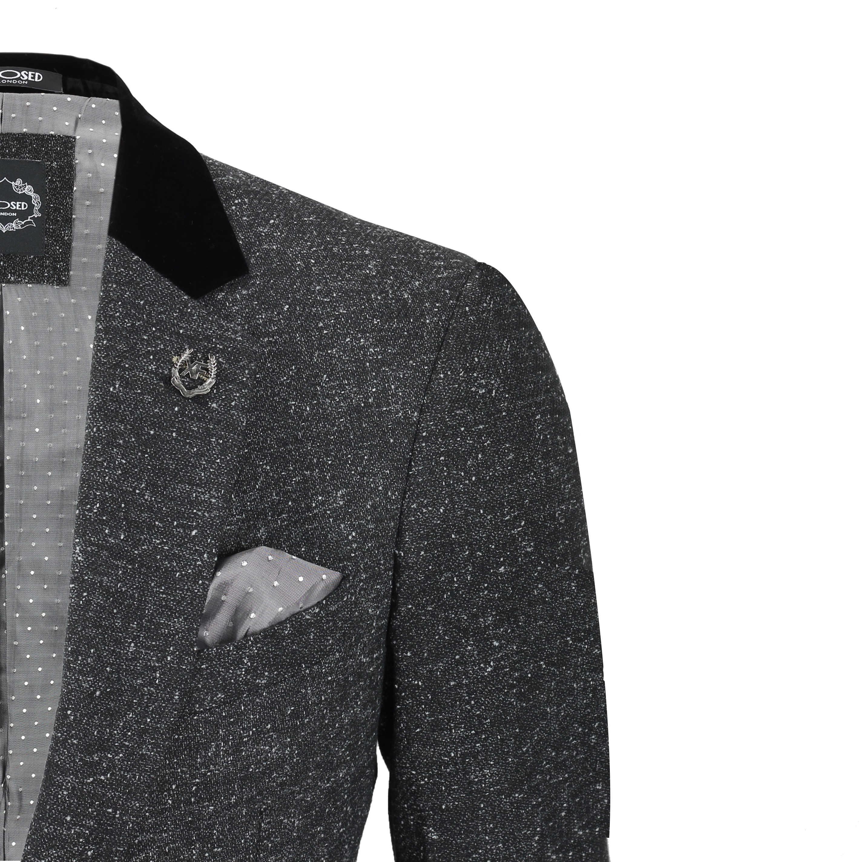 Para-hombre-Traje-de-3-piezas-de-lana-en-gris-se-vende-por-separado-Retro-Blazer-Chaleco-Pantalones miniatura 6