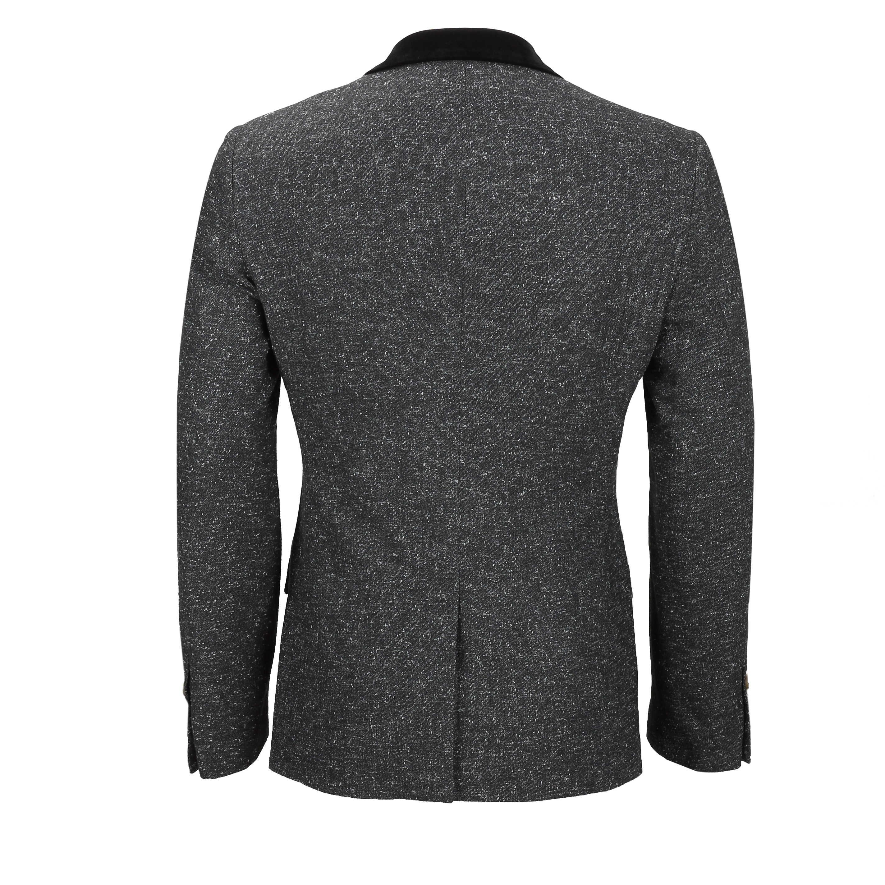 Para-hombre-Traje-de-3-piezas-de-lana-en-gris-se-vende-por-separado-Retro-Blazer-Chaleco-Pantalones miniatura 8