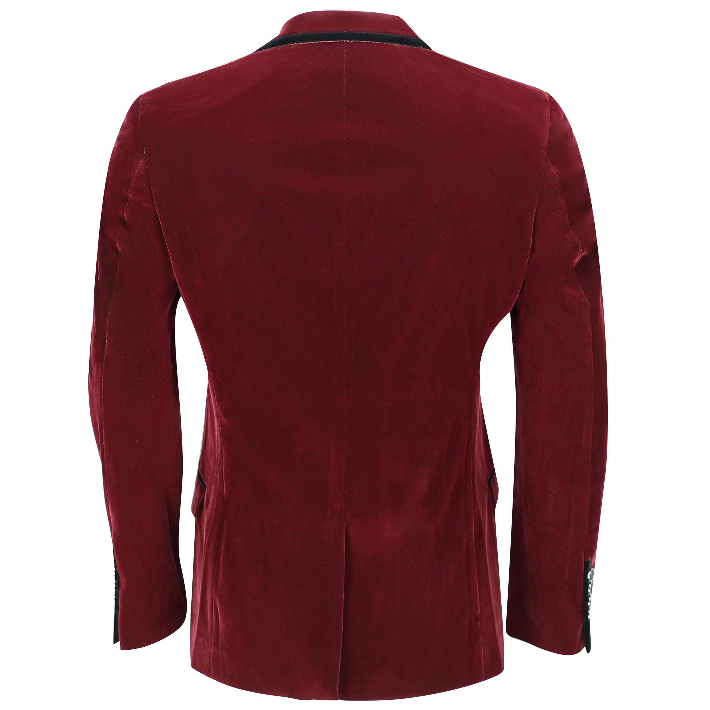mens vintage soft velvet blazer tailored fit smart casual black trim jacket ebay. Black Bedroom Furniture Sets. Home Design Ideas