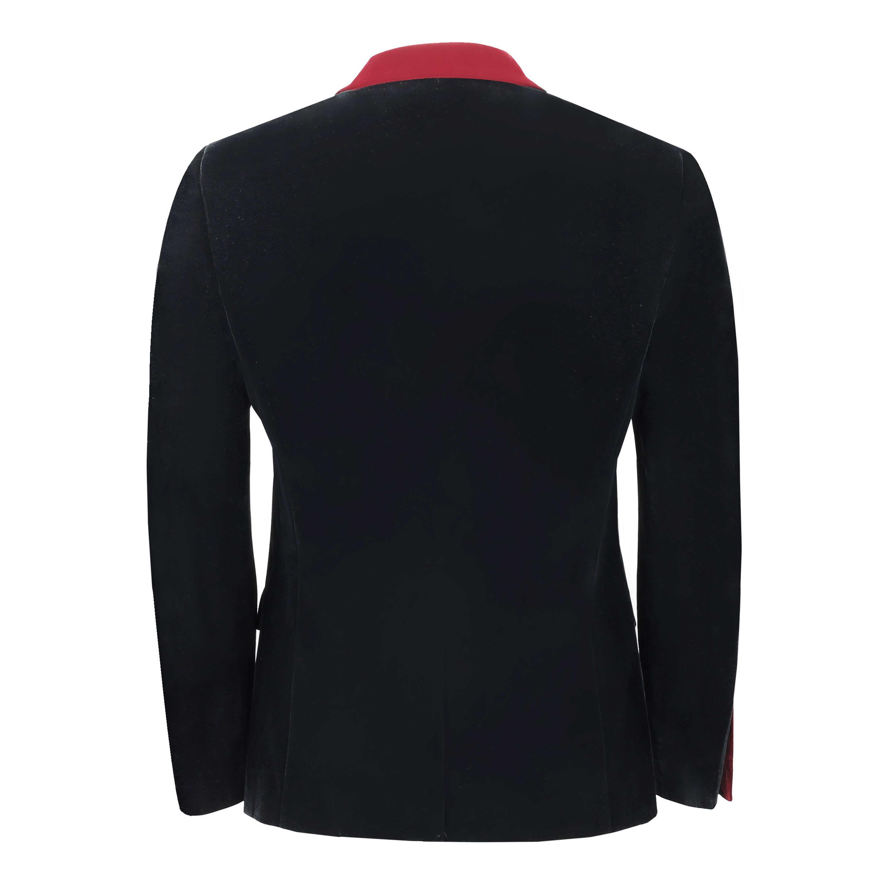 Para-hombre-negro-terciopelo-vintage-3-Piezas-Traje-Blazer-Chaleco-del-pantalon-se-vende-por miniatura 5
