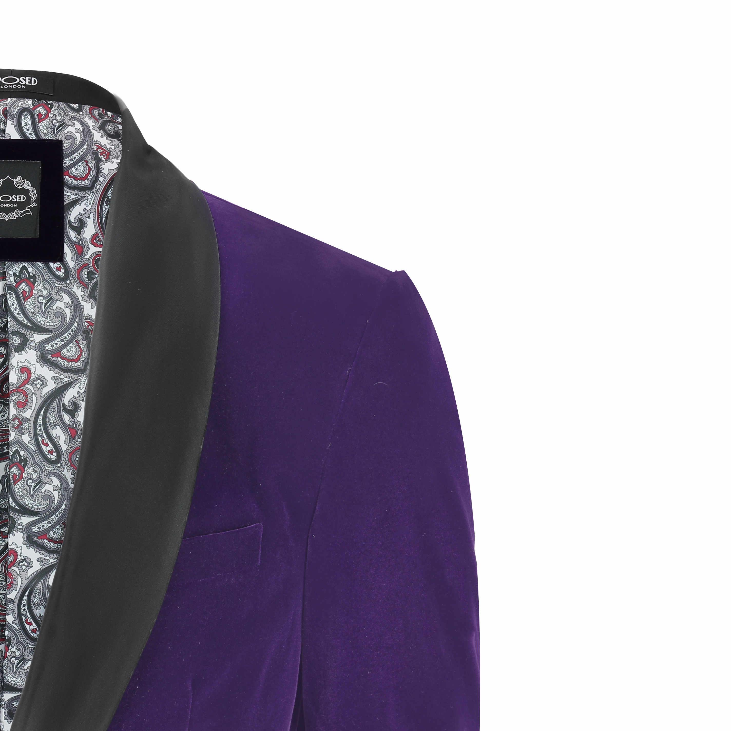 Mens Velvet Tuxedo Suit Jacket Black Shawl Lapel Blazer Smart Formal ...