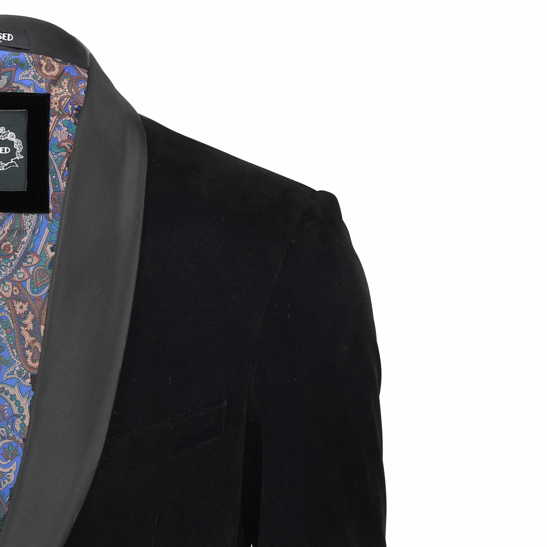 Para-hombre-negro-terciopelo-vintage-3-Piezas-Traje-Blazer-Chaleco-del-pantalon-se-vende-por miniatura 10