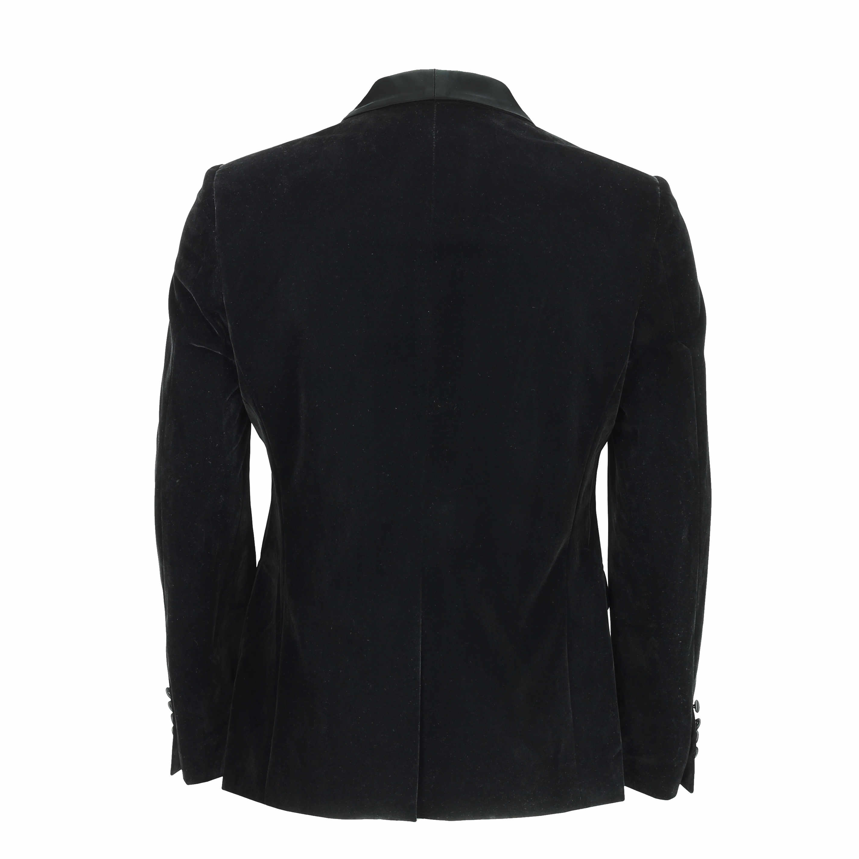 Para-hombre-negro-terciopelo-vintage-3-Piezas-Traje-Blazer-Chaleco-del-pantalon-se-vende-por miniatura 12