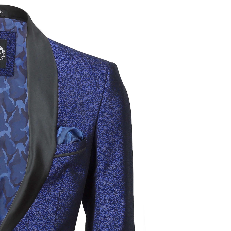 Para-hombre-traje-de-Esmoquin-Vintage-floral-del-damasco-Cena-Chaqueta-Boda-Fiesta-Formal-Blazer miniatura 3