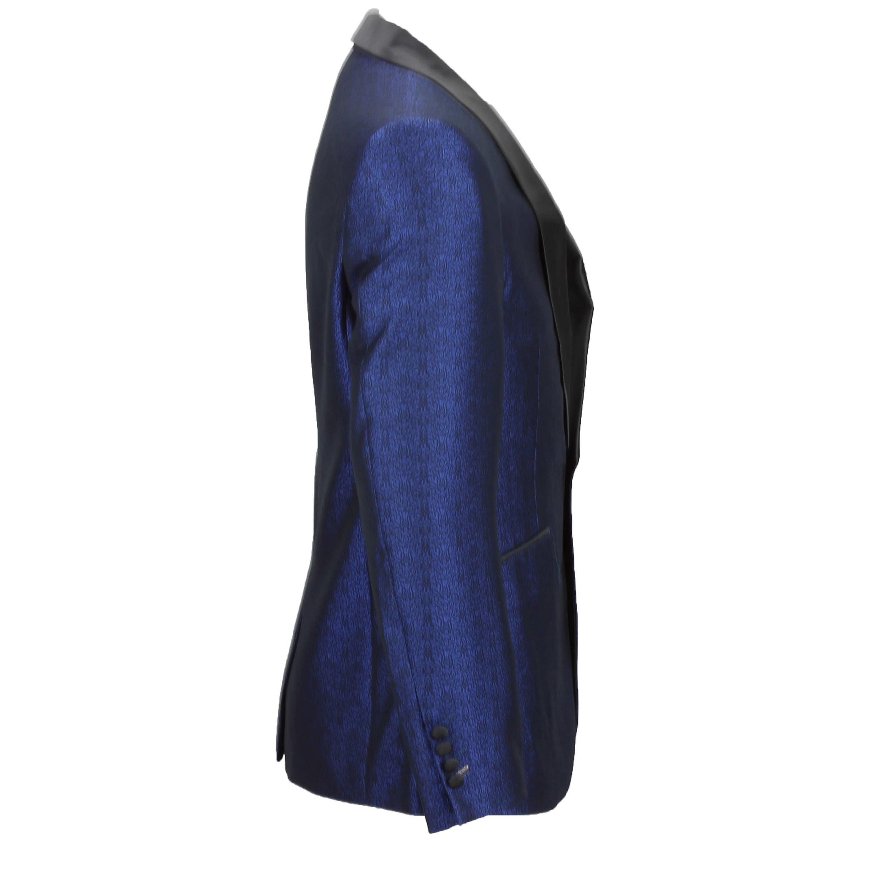 Para-hombre-traje-de-Esmoquin-Vintage-floral-del-damasco-Cena-Chaqueta-Boda-Fiesta-Formal-Blazer miniatura 4