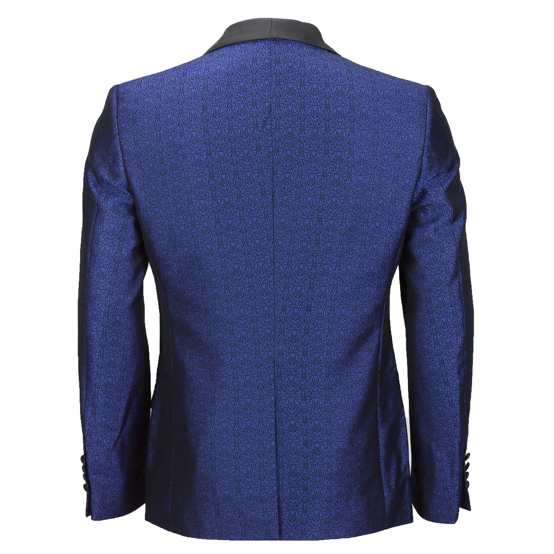 Para-hombre-traje-de-Esmoquin-Vintage-floral-del-damasco-Cena-Chaqueta-Boda-Fiesta-Formal-Blazer miniatura 5
