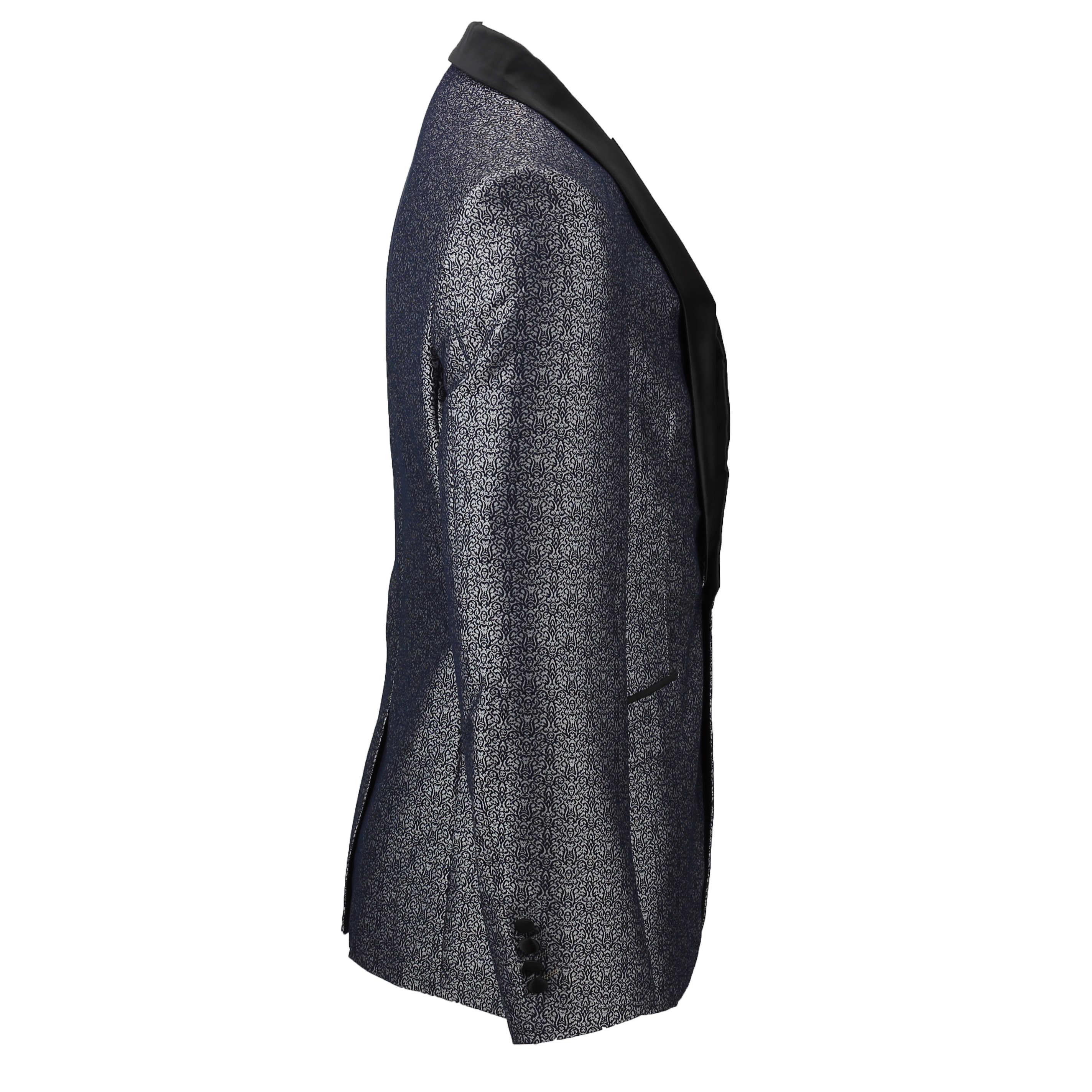 Para-hombre-traje-de-Esmoquin-Vintage-floral-del-damasco-Cena-Chaqueta-Boda-Fiesta-Formal-Blazer miniatura 8