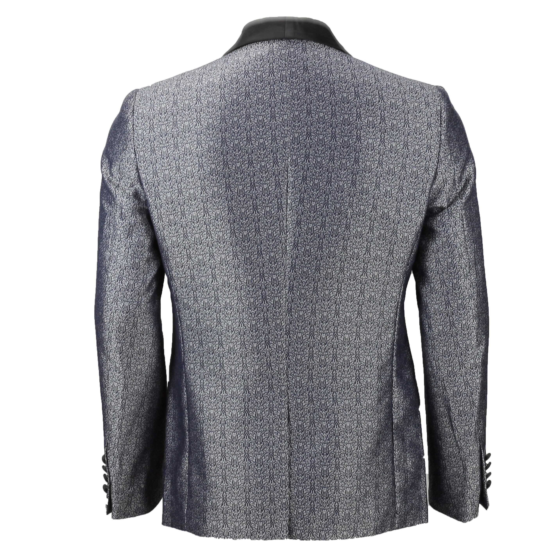 Para-hombre-traje-de-Esmoquin-Vintage-floral-del-damasco-Cena-Chaqueta-Boda-Fiesta-Formal-Blazer miniatura 9