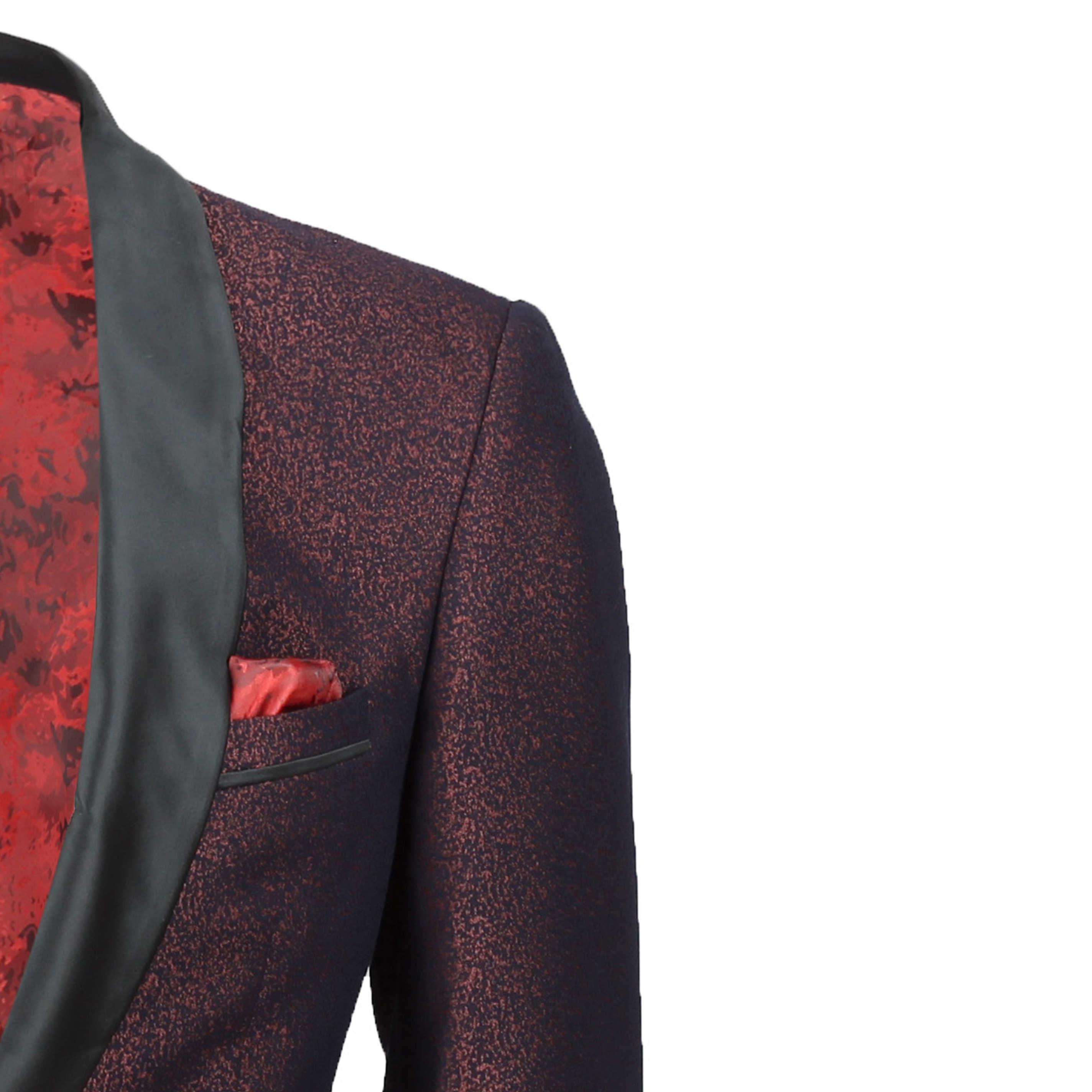 Para-hombre-traje-de-Esmoquin-Vintage-floral-del-damasco-Cena-Chaqueta-Boda-Fiesta-Formal-Blazer miniatura 11