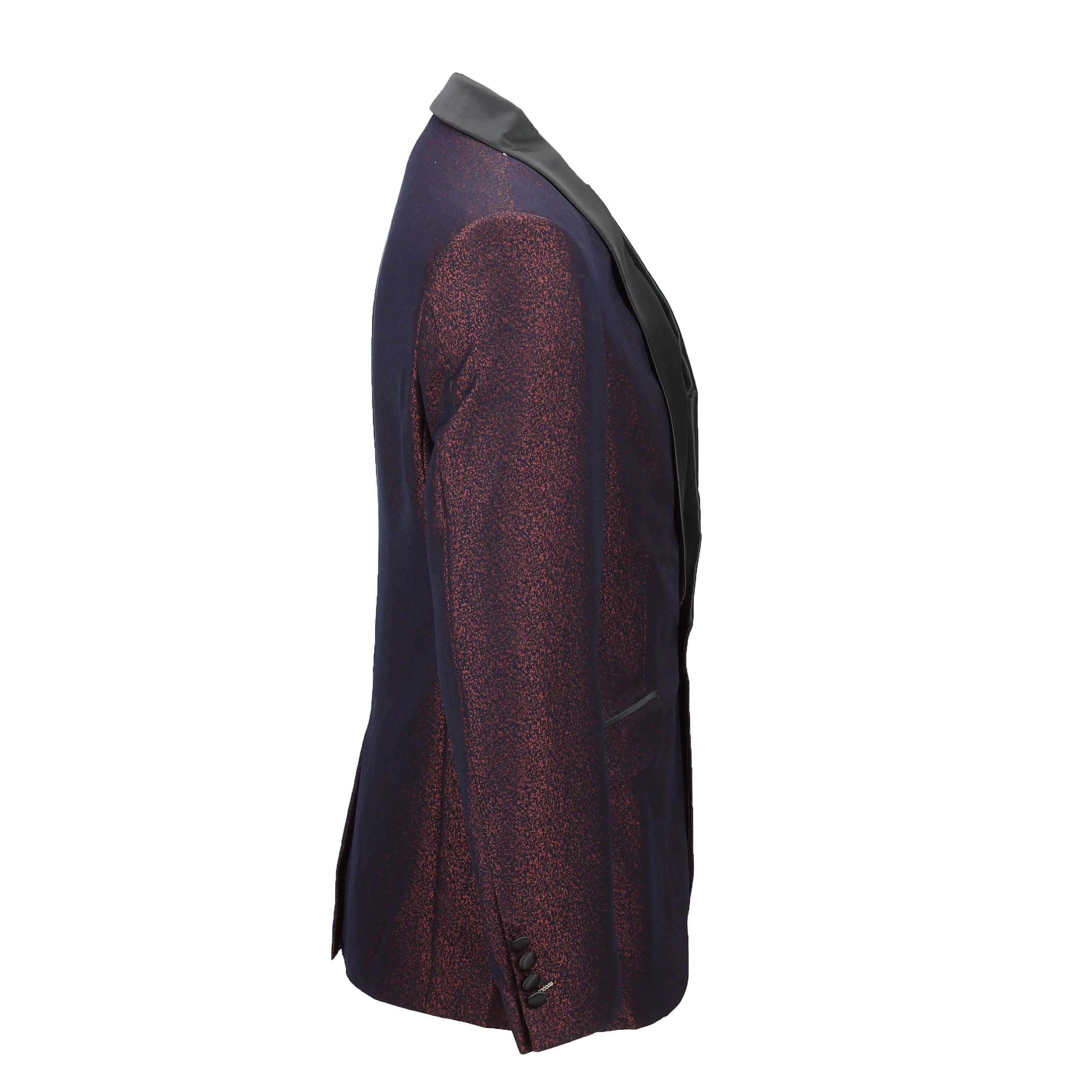 Para-hombre-traje-de-Esmoquin-Vintage-floral-del-damasco-Cena-Chaqueta-Boda-Fiesta-Formal-Blazer miniatura 12