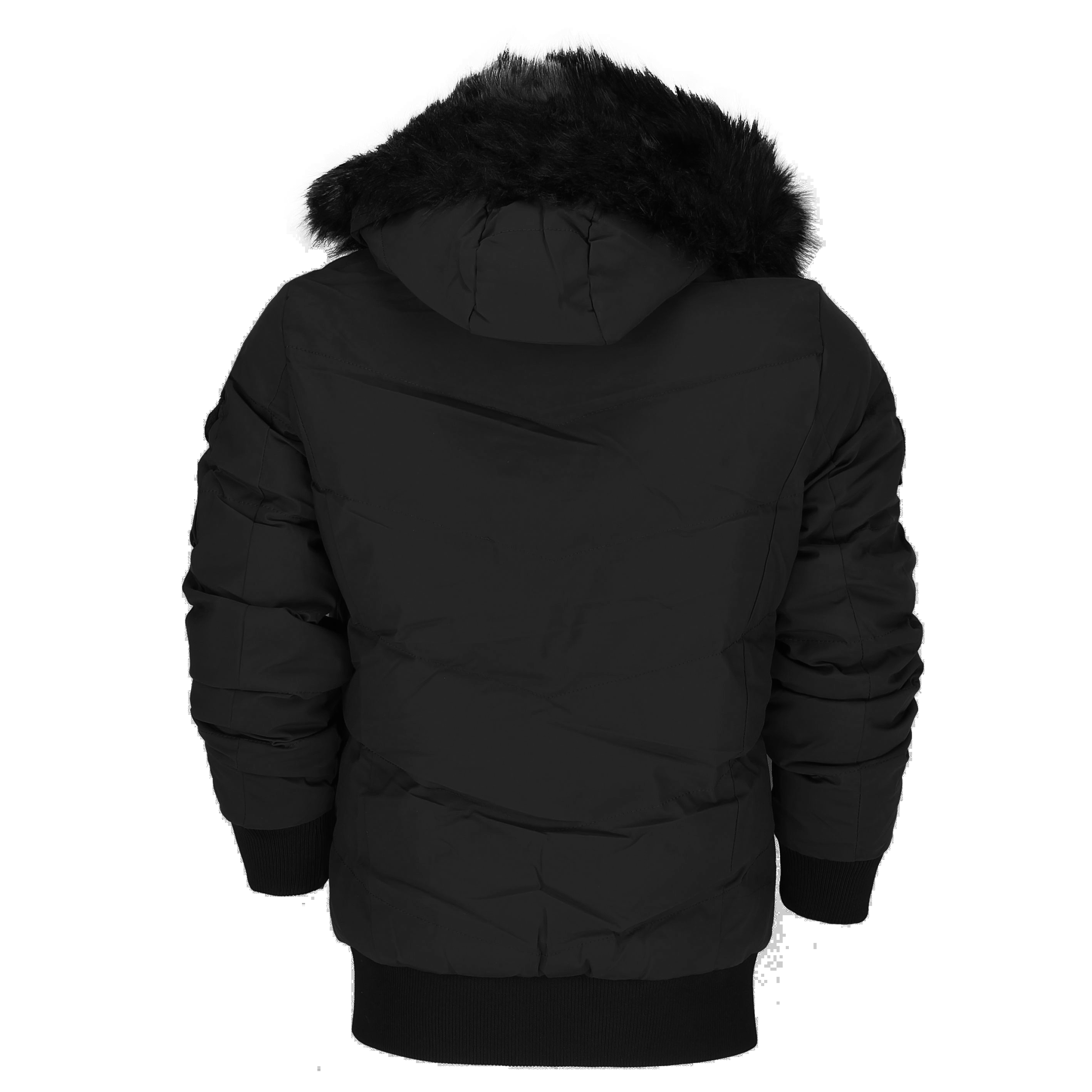 Generic Mens Classic Basic Style Zip Up Closure Quilted Puffer Bomber Jacket