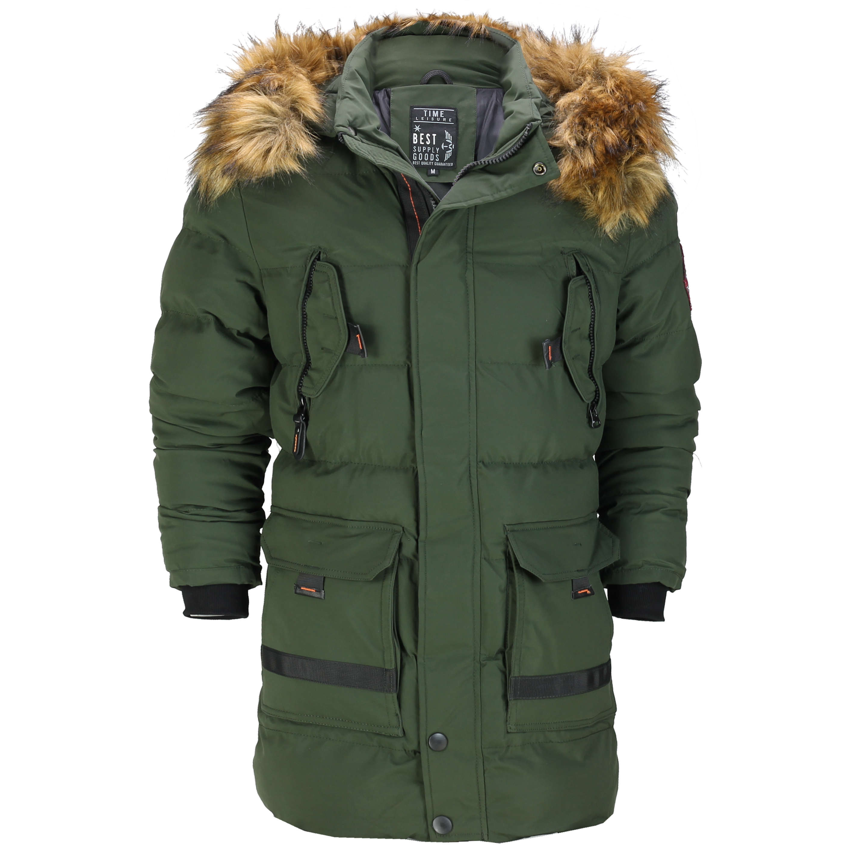 63609f2f2 Details about New Mens Warm Heavy Weight Padded Winter Jacket Puffer Parka  Coat Fur Trim Hood