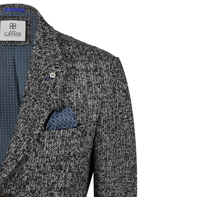 Mens Retro Charcoal Salt Pepper 3//4 Long Overcoat Trench Coat Jacket Wool Blend