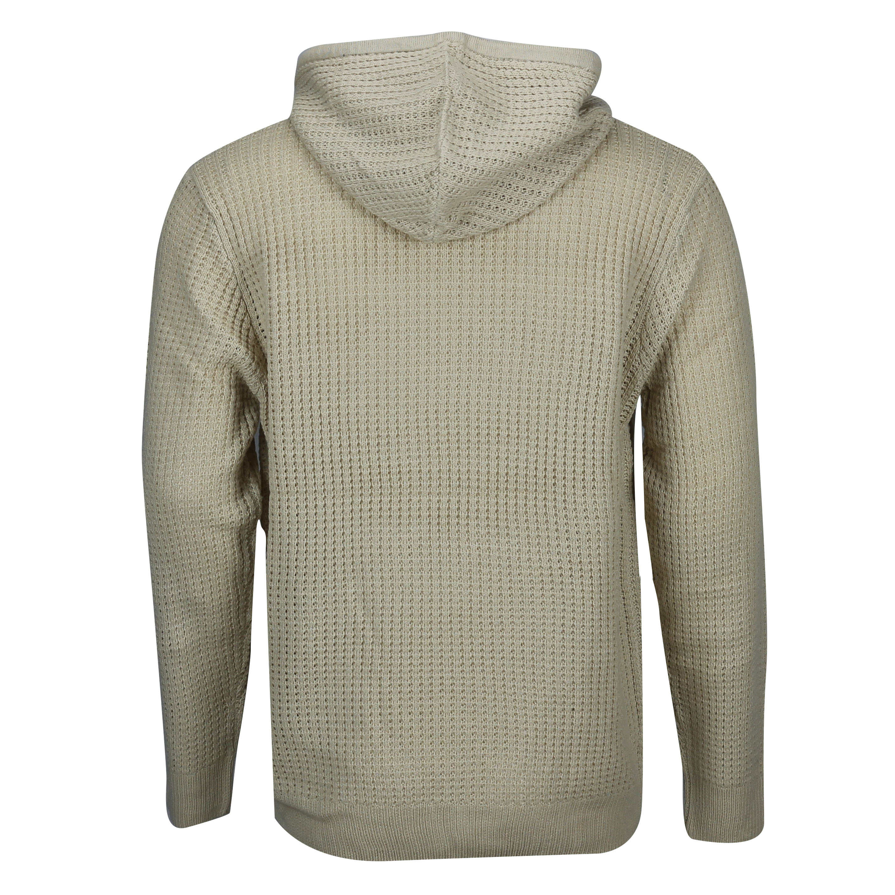 New-Mens-Soul-Star-Retro-Cable-Knit-Hood-Jumper-Long-Line-Hoody-Sweater-Pullover thumbnail 3