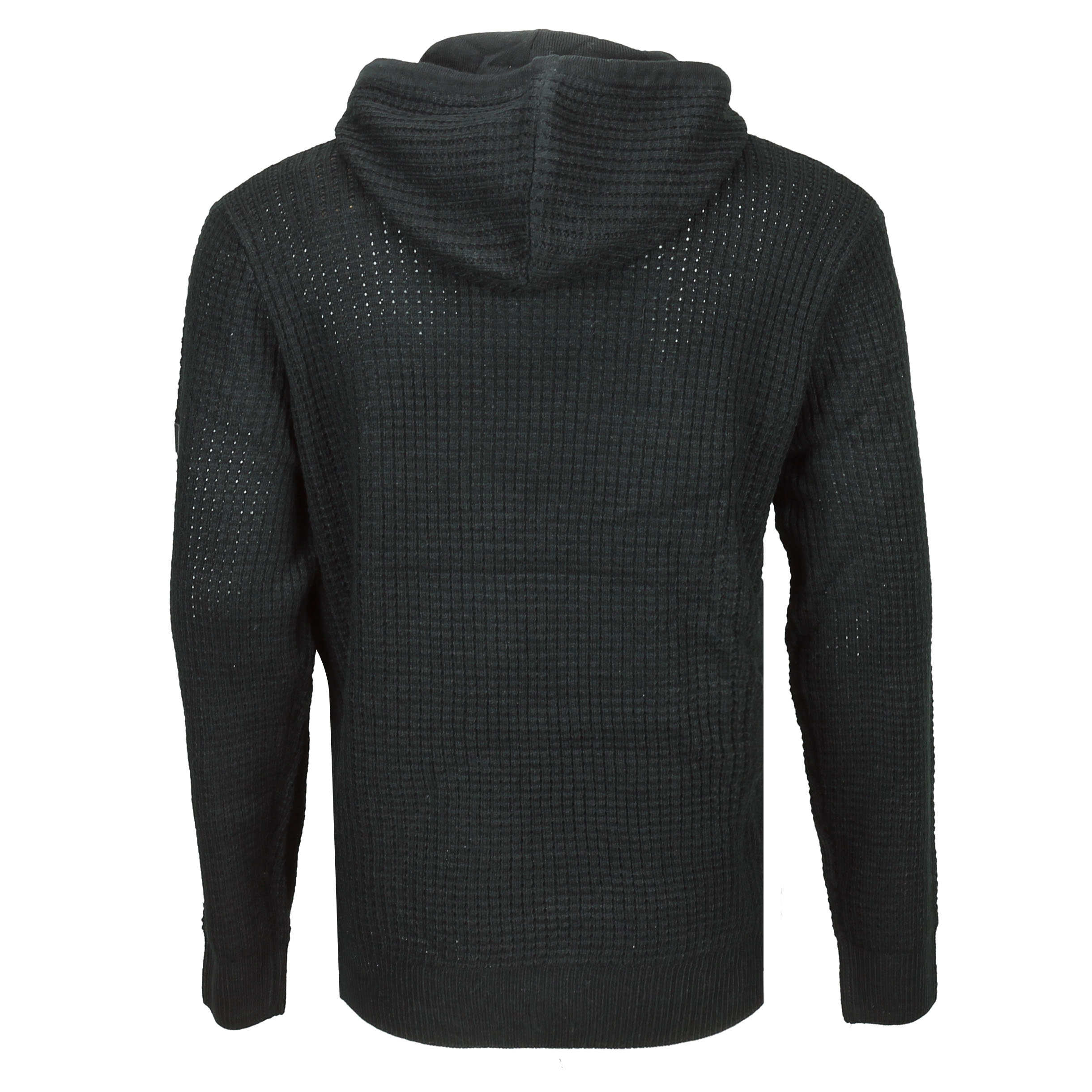 New-Mens-Soul-Star-Retro-Cable-Knit-Hood-Jumper-Long-Line-Hoody-Sweater-Pullover thumbnail 5