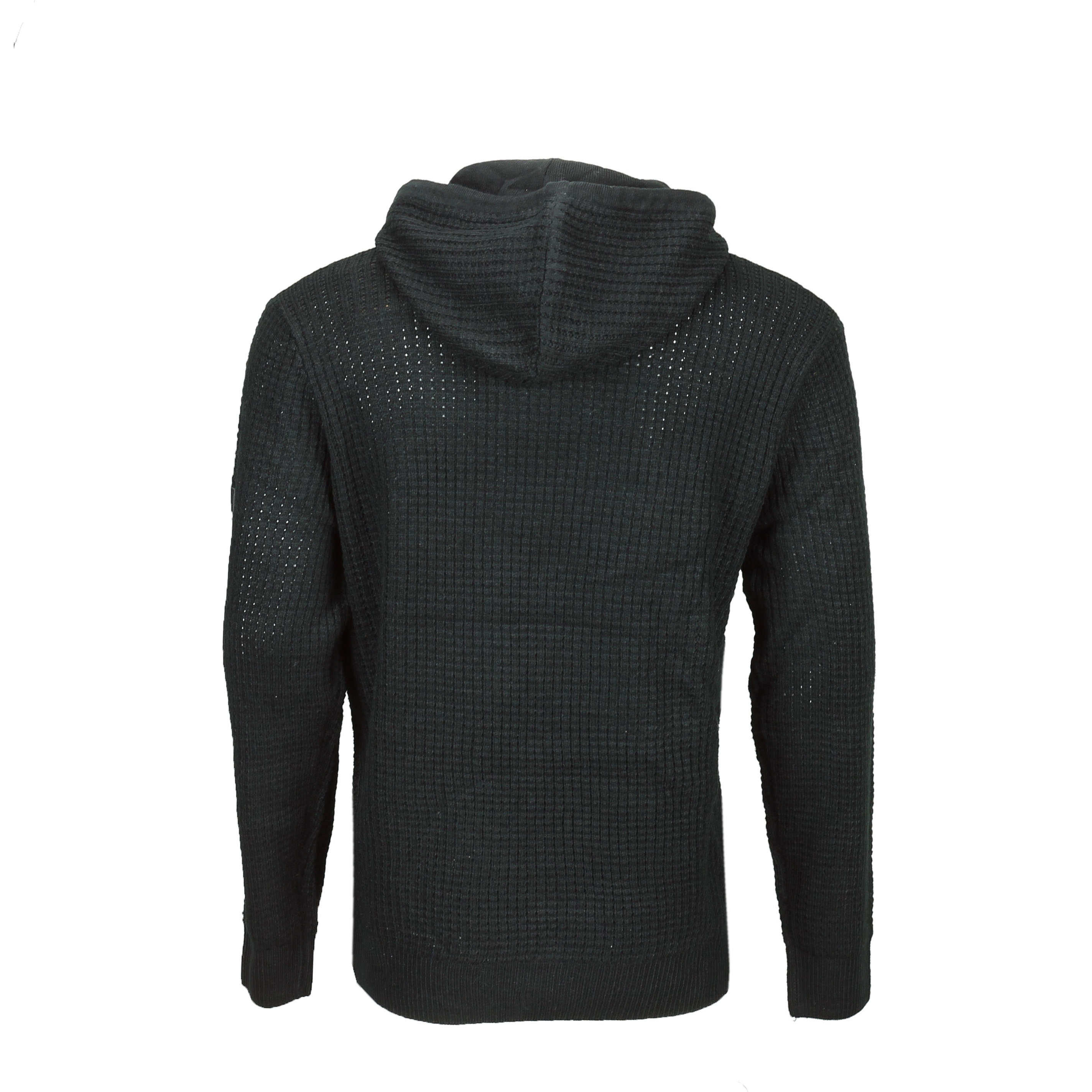 New-Mens-Soul-Star-Retro-Cable-Knit-Hood-Jumper-Long-Line-Hoody-Sweater-Pullover thumbnail 7