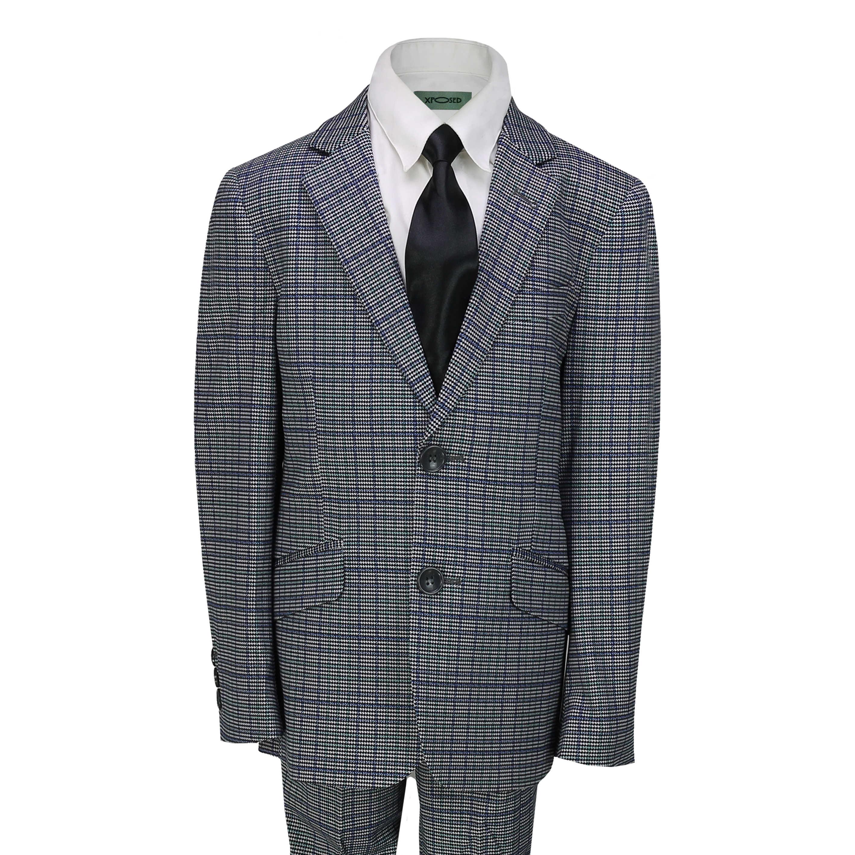 Kids,Boys,2,Piece,Tweed,Check,Suit,Retro,