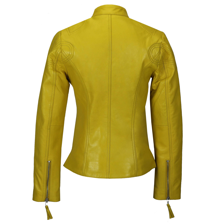 Ladies-Womens-Genuine-Real-Leather-Vintage-Slim-Fit-Red-Brown-Biker-Jacket thumbnail 33