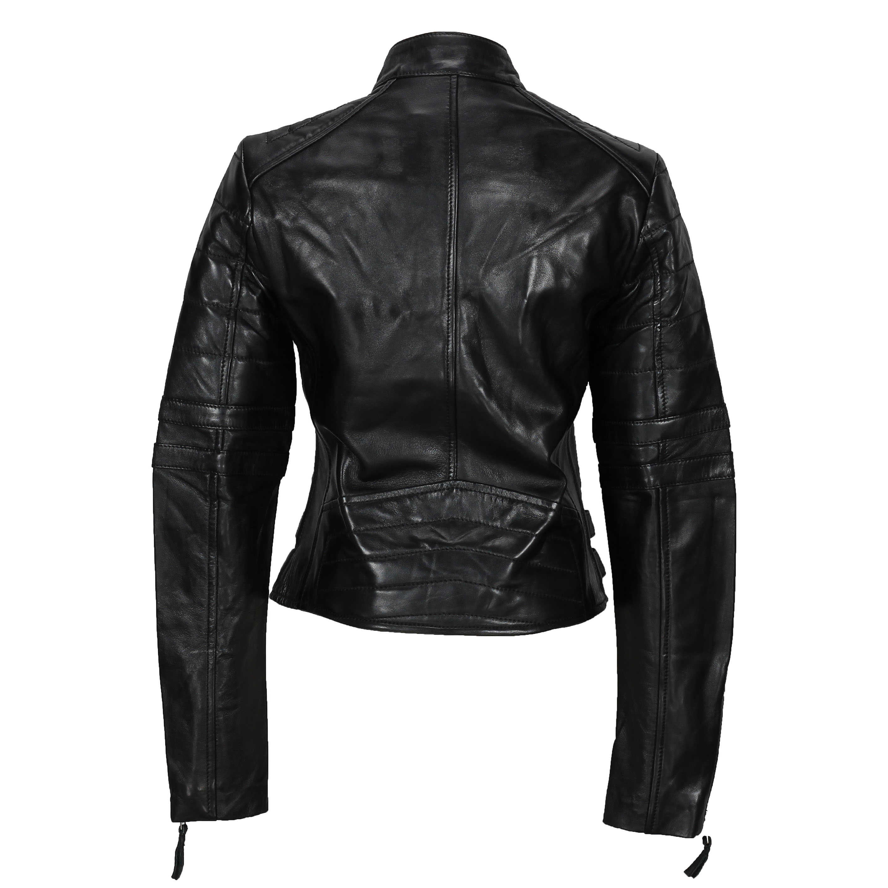variety styles of 2019 more photos website for discount Details about Ladies Women Soft Real Leather Biker Jacket Size UK 8 10 12  14 16 18 20 22 24