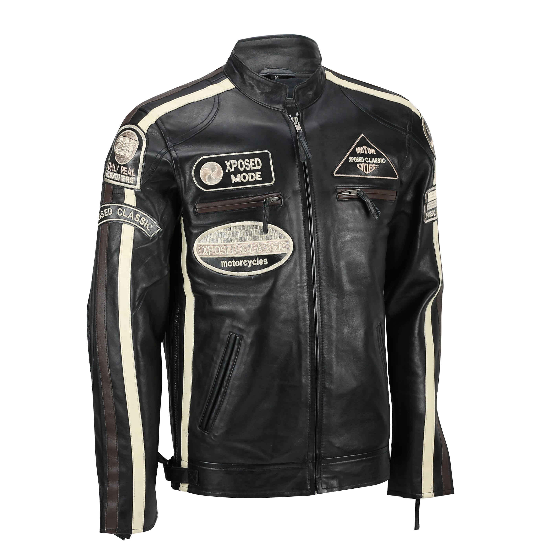 Black Shoes Brown Leather Jacket Men