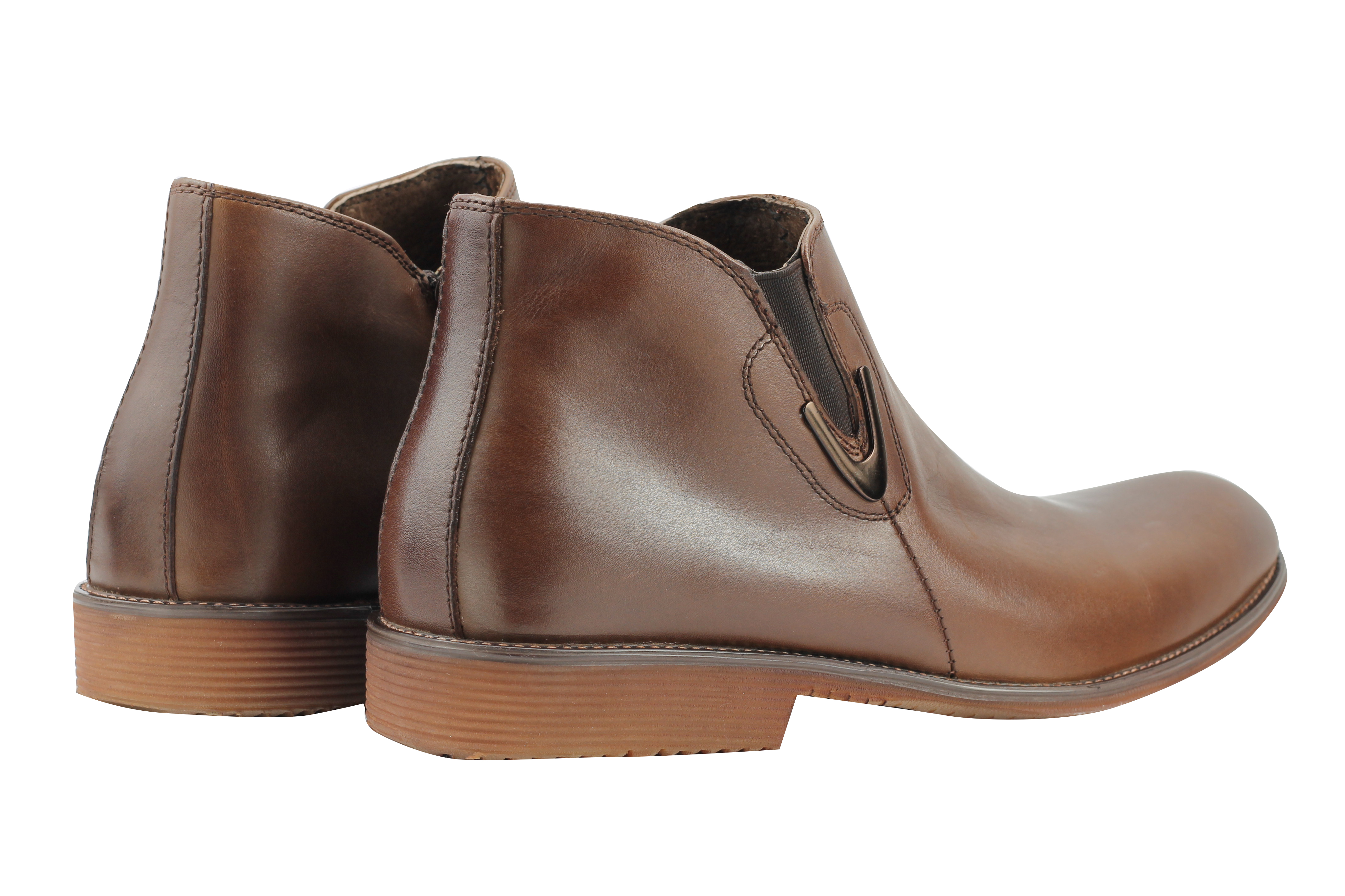 7bbe66ea3871 New Mens Real Leather Vintage Chelsea Boots Classic Zip Ankle Shoes ...