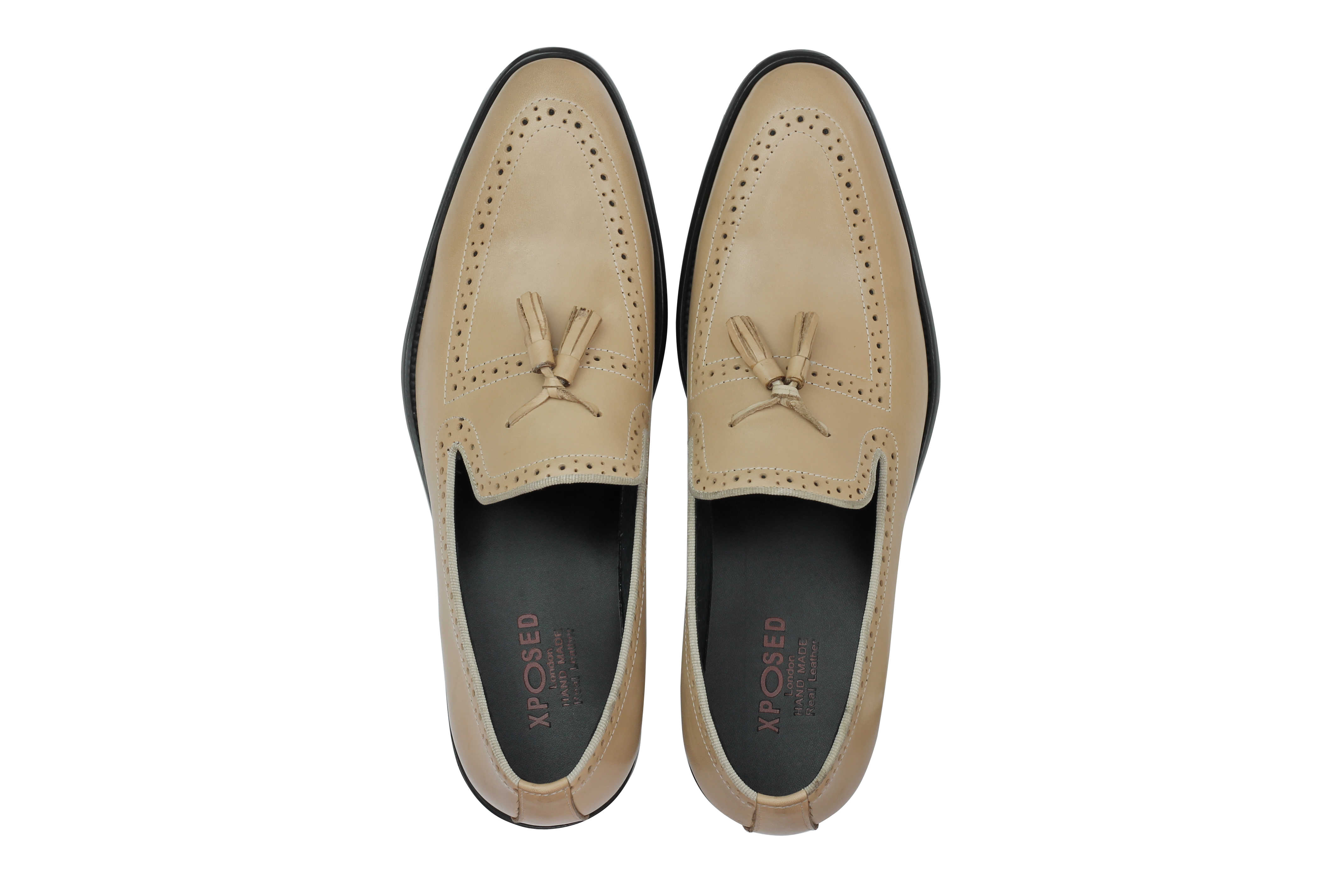 Mens-Real-Leather-Tassel-Loafers-Retro-Hand-Made-Brogue-Slip-on-Dress-Shoes thumbnail 6