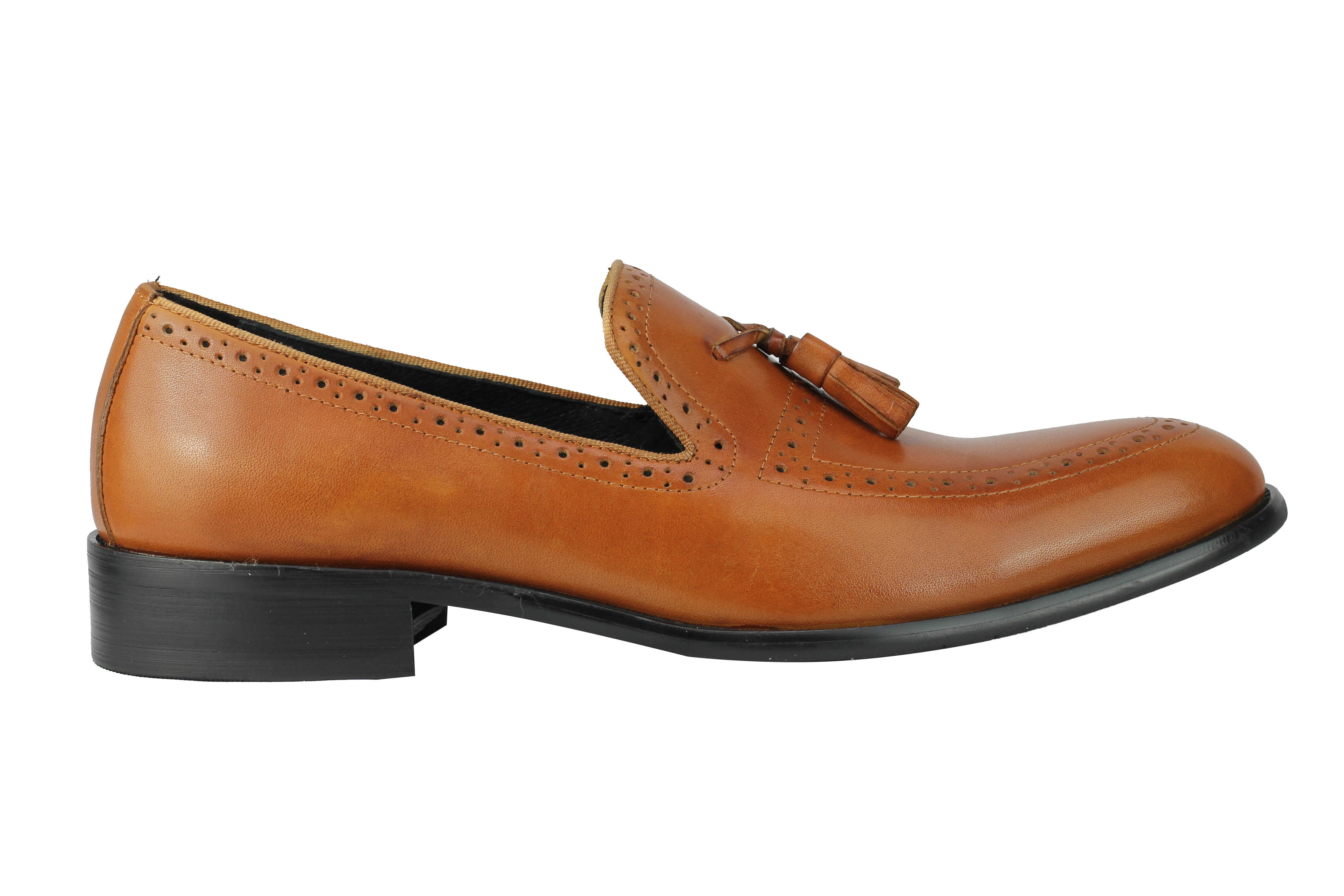 Mens-Real-Leather-Tassel-Loafers-Retro-Hand-Made-Brogue-Slip-on-Dress-Shoes thumbnail 17