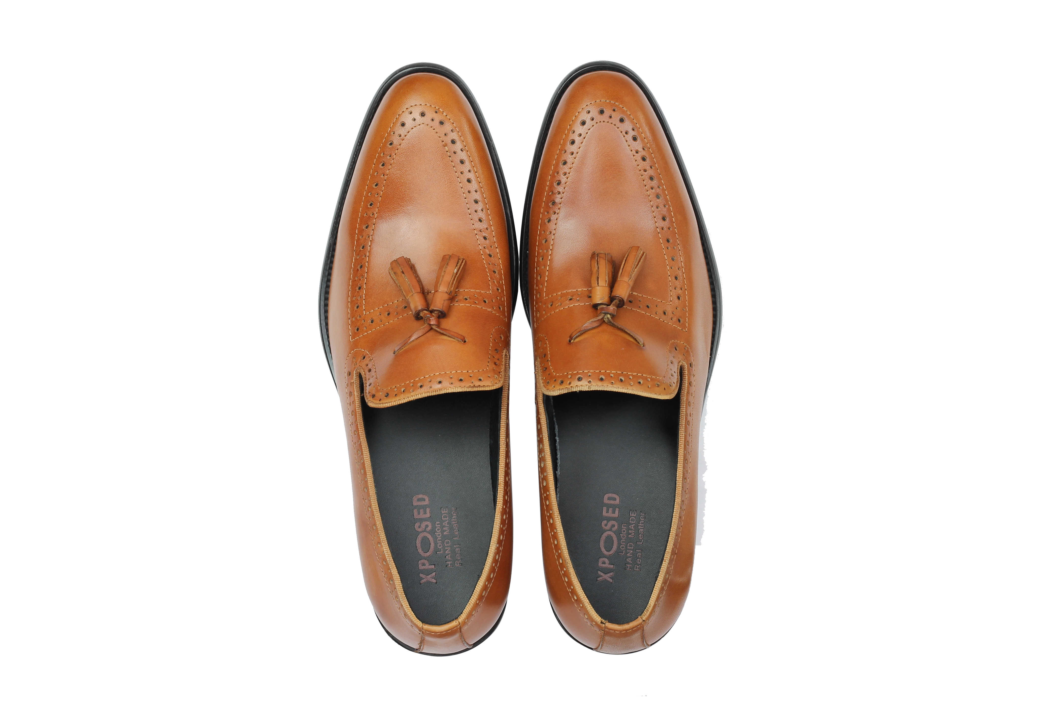 Mens-Real-Leather-Tassel-Loafers-Retro-Hand-Made-Brogue-Slip-on-Dress-Shoes thumbnail 18