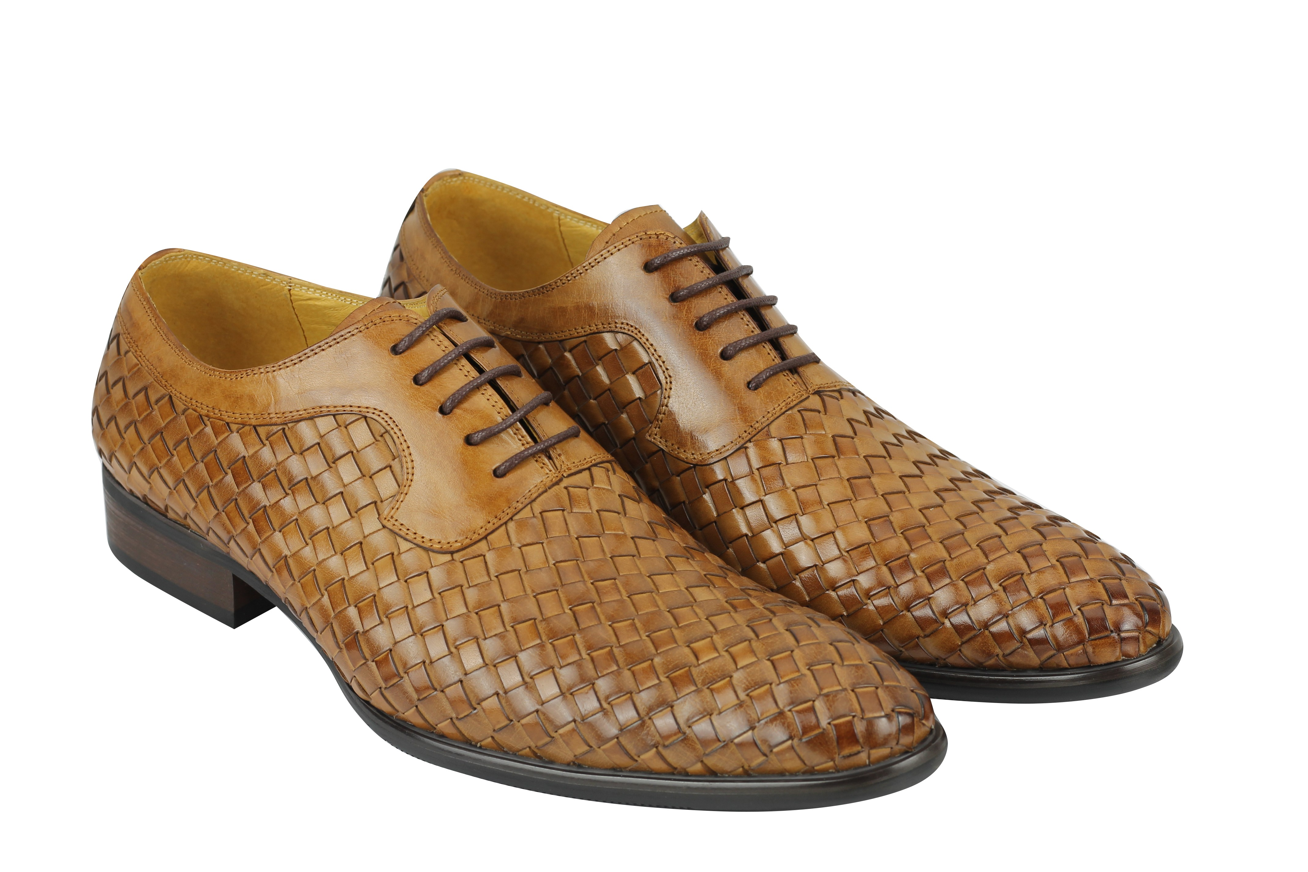 585e08c41b8e Mens Hand Woven Real Leather Vintage Basket Weave Oxford Lace up ...