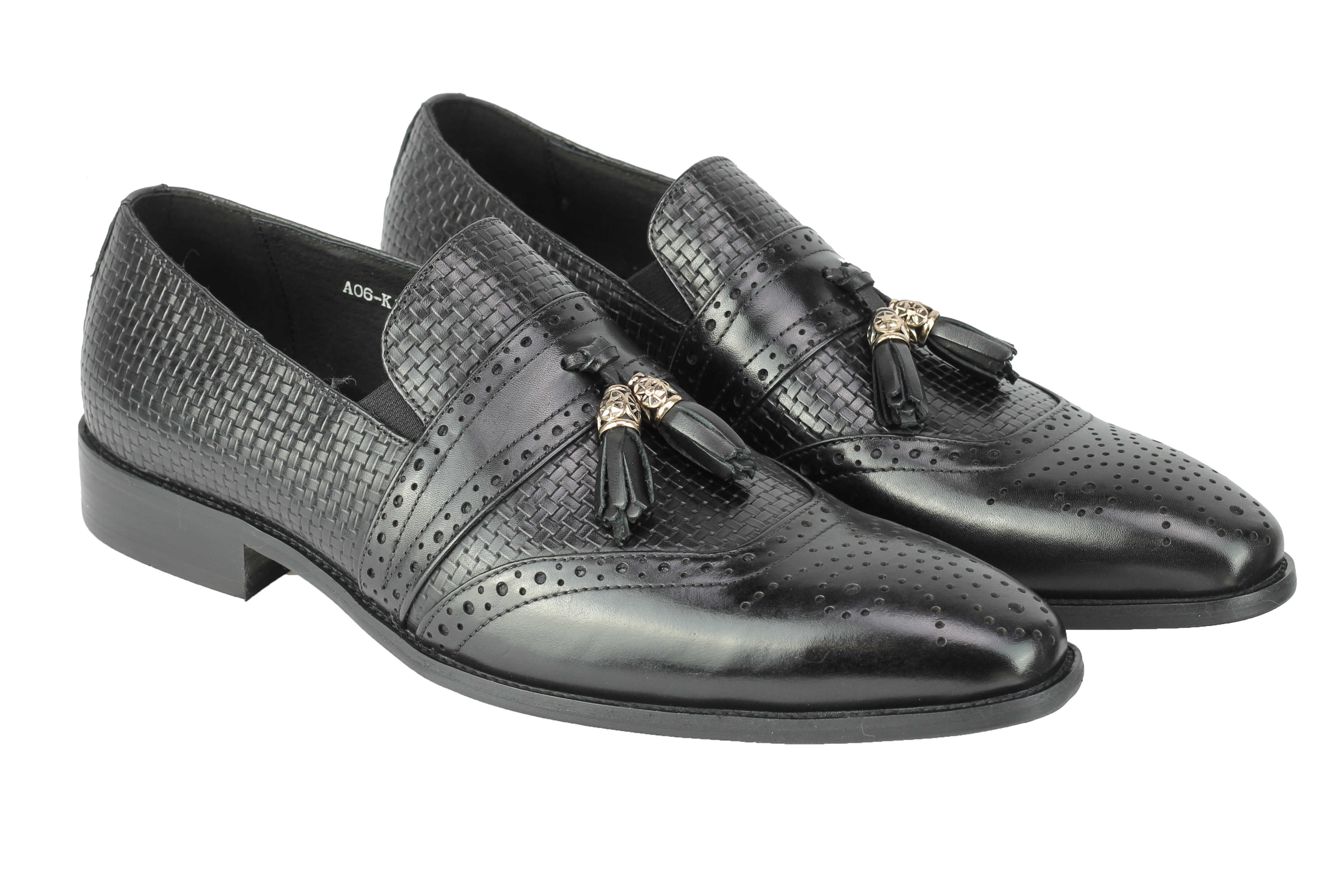 Mens-Real-Leather-Slip-on-Tassel-Loafers-High-Detailed-Smart-Dress-Party-Shoes thumbnail 3