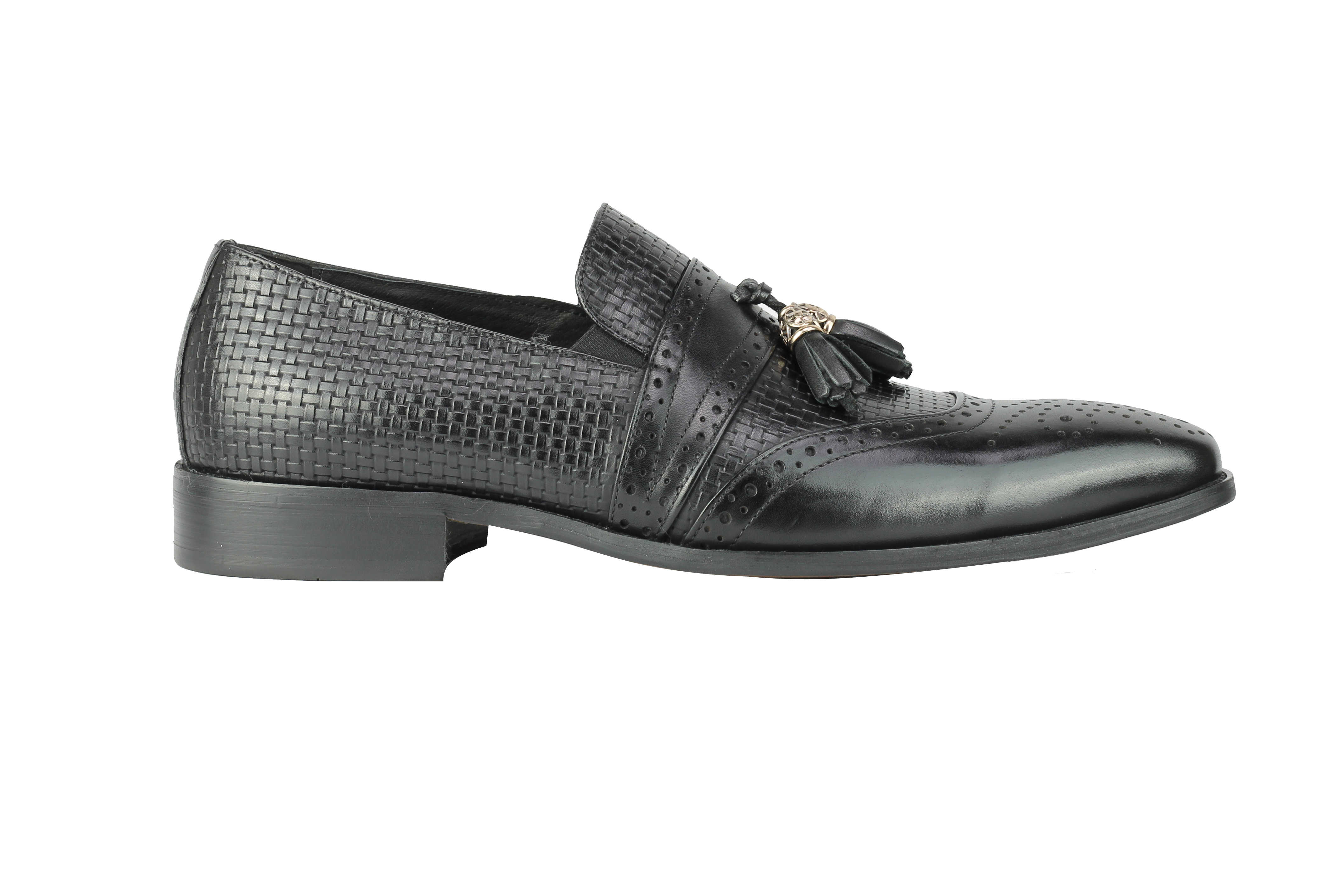 Mens-Real-Leather-Slip-on-Tassel-Loafers-High-Detailed-Smart-Dress-Party-Shoes thumbnail 4